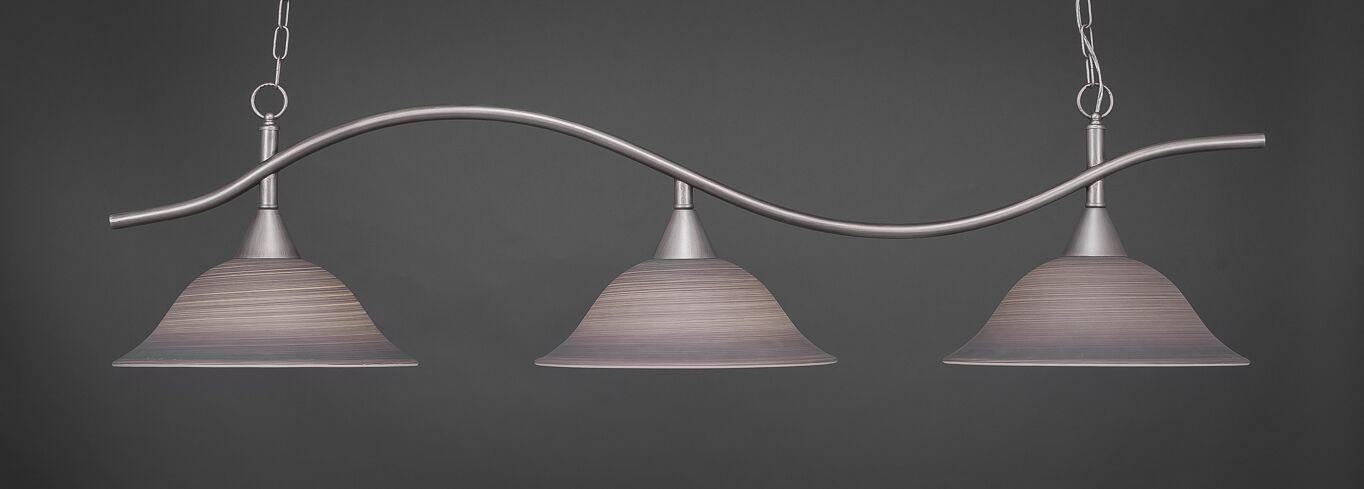 Goleta 3-Light Kitchen Island Pendant Shade Color: Gray