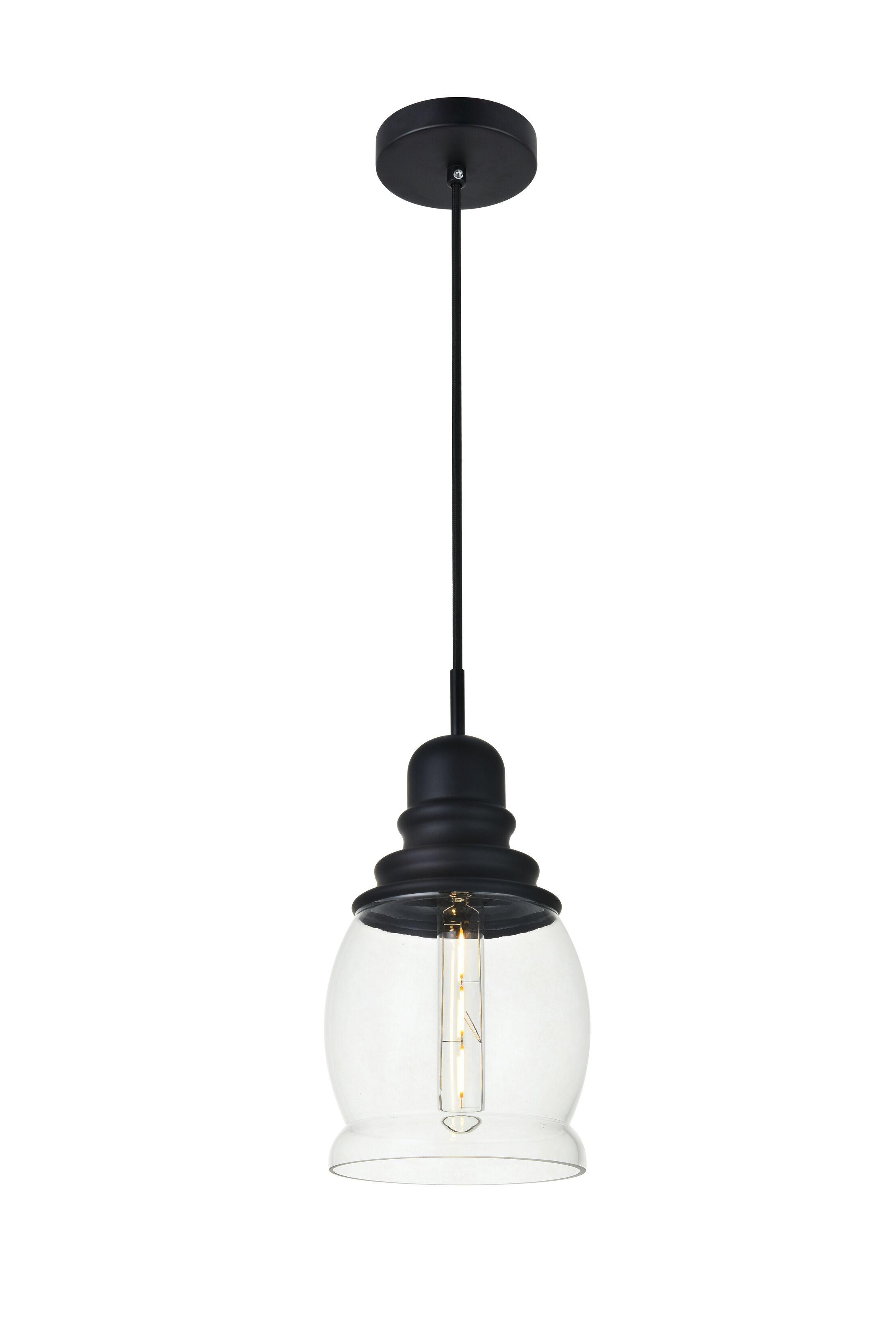 Zayn 1-Light Mini Pendant Finish: Black