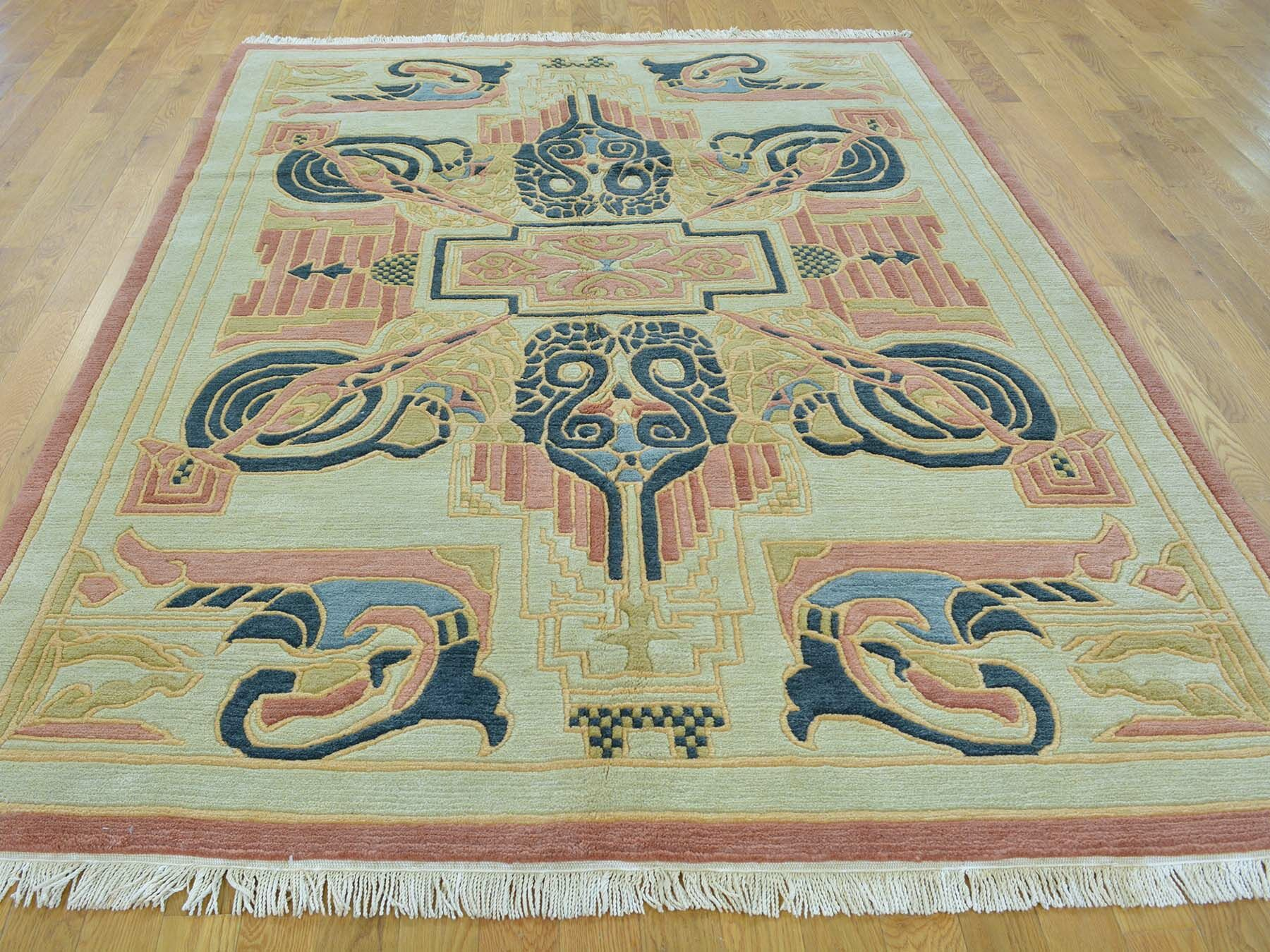 One-of-a-Kind Beverly Hand-Knotted Ivory Wool Area Rug