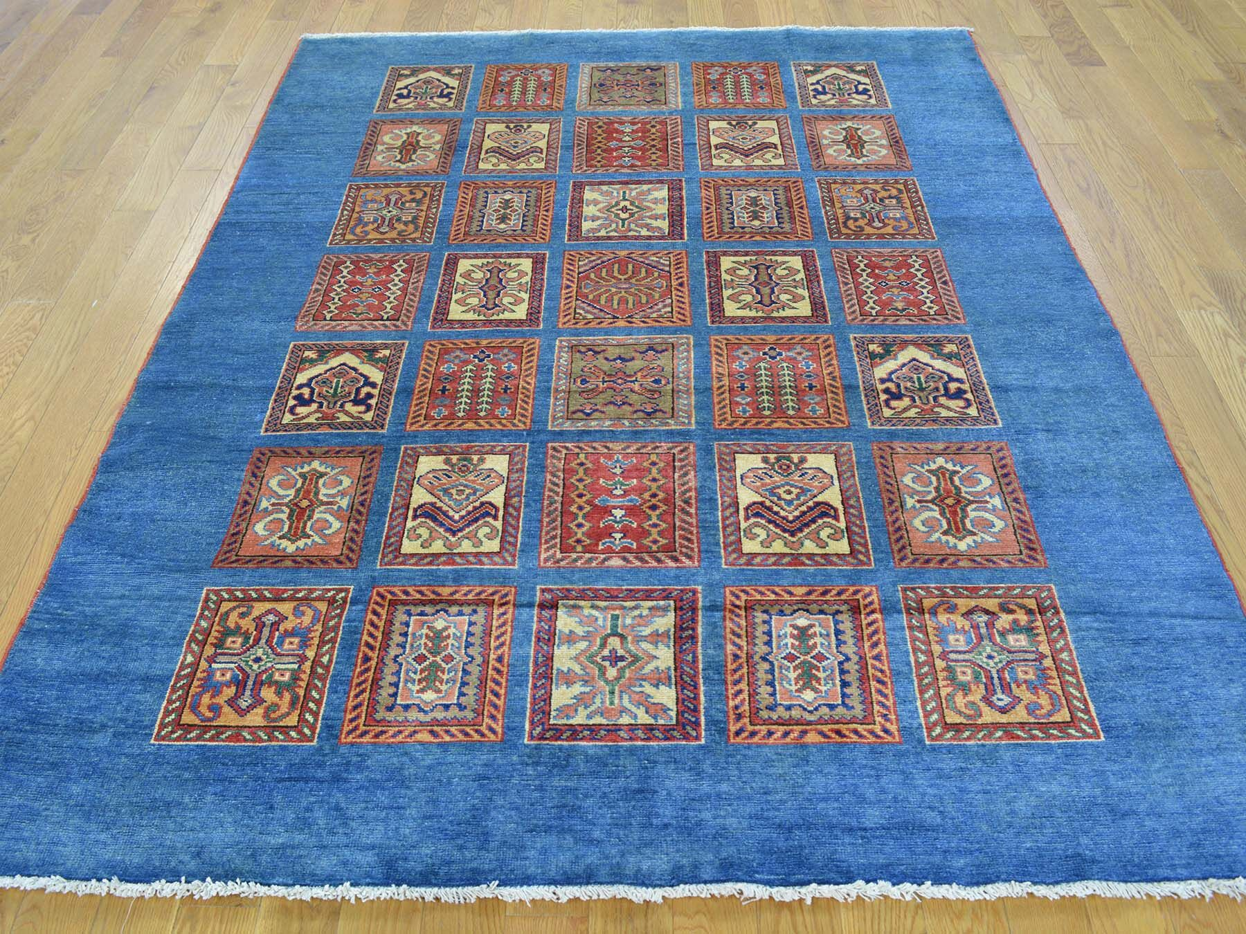 One-of-a-Kind Beauchamp Denim Design Handwoven Blue Wool Area Rug