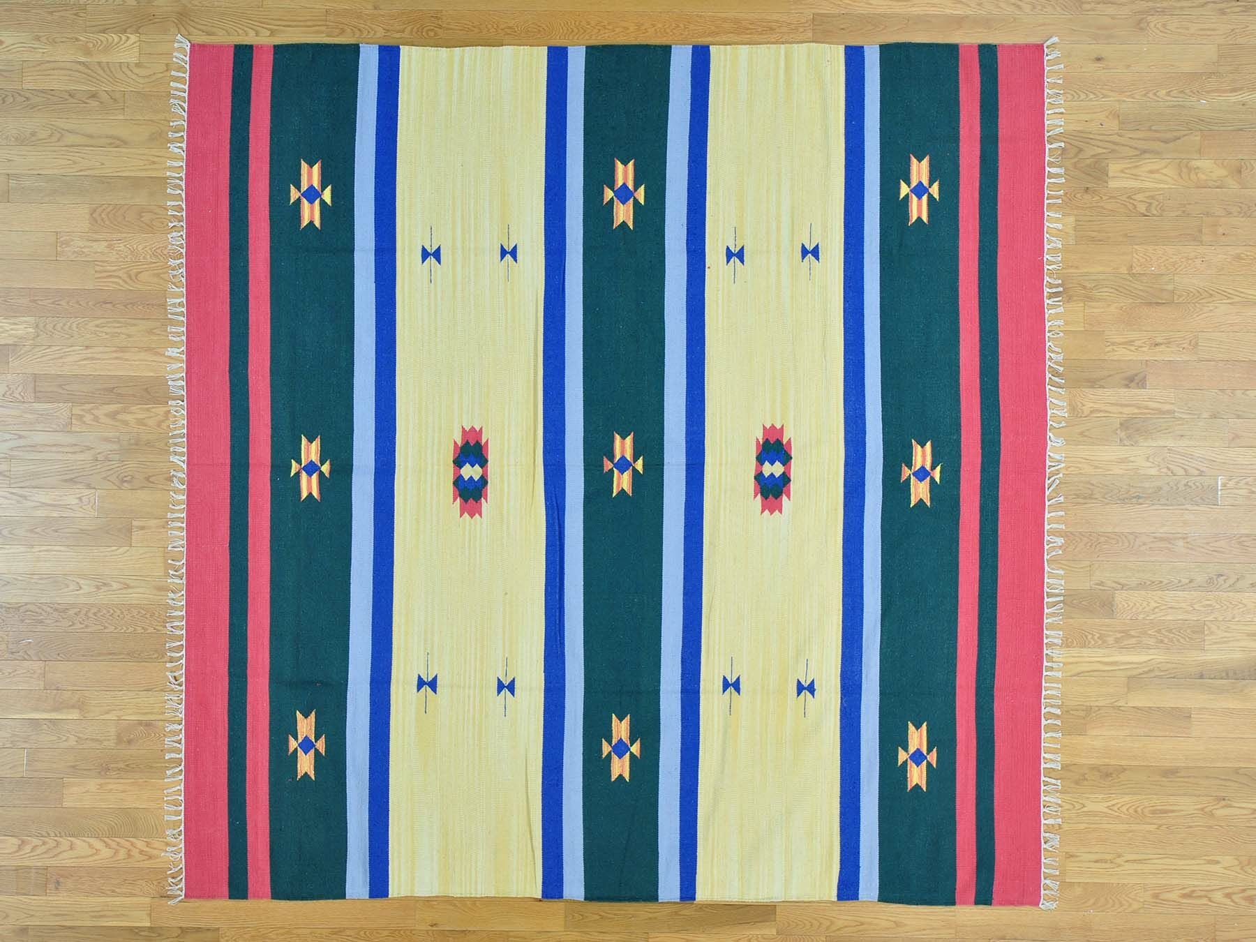 One-of-a-Kind Bibiana Southwestern Design Killim Handwoven Wool Area Rug