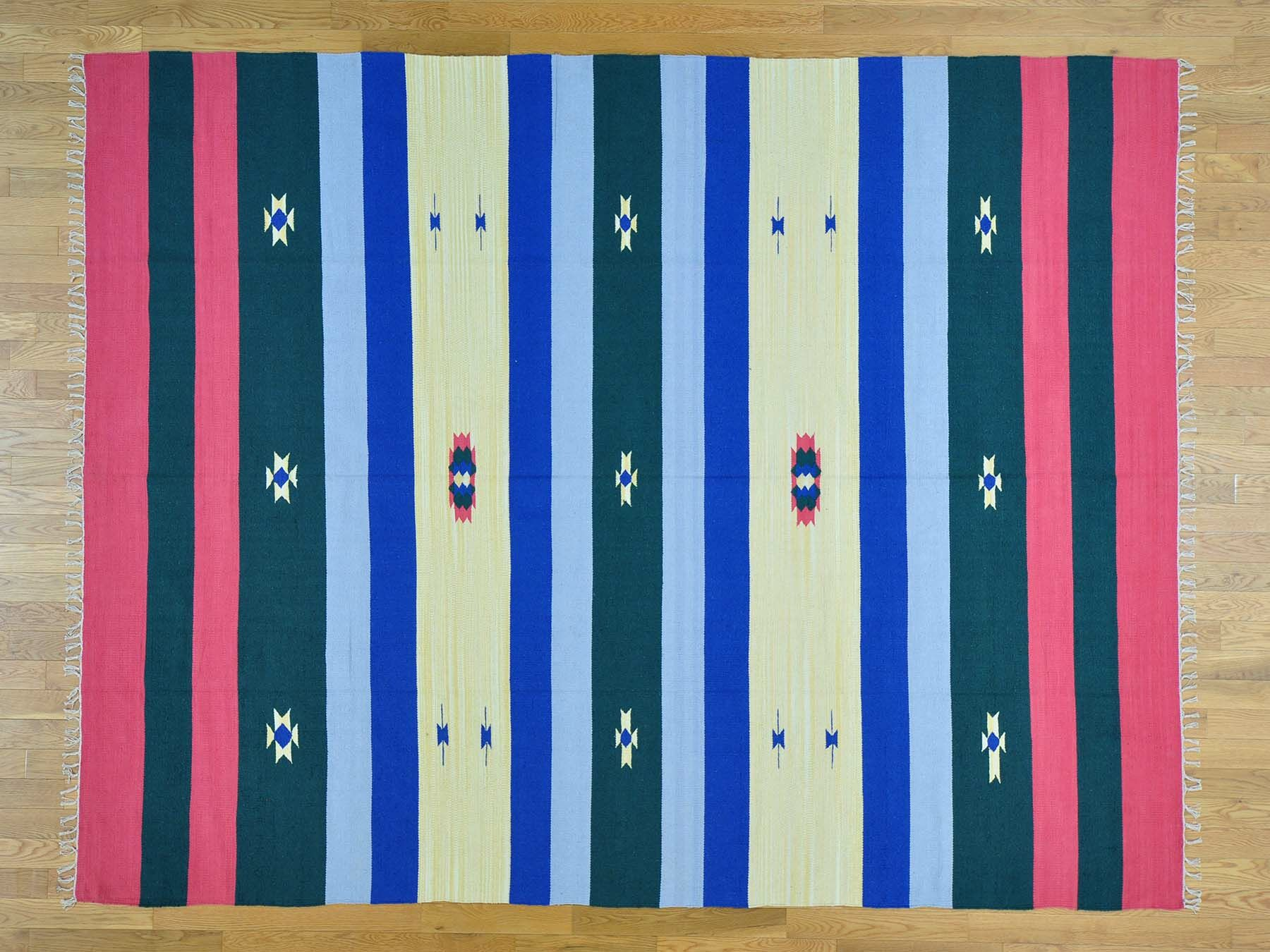 One-of-a-Kind Chavarria Killim Design Handwoven Wool Area Rug