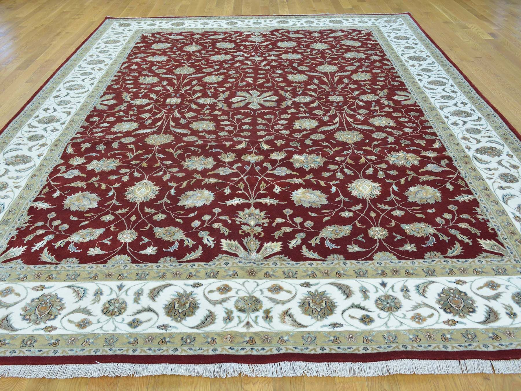 One-of-a-Kind Benally Hand-Knotted Red Wool Area Rug