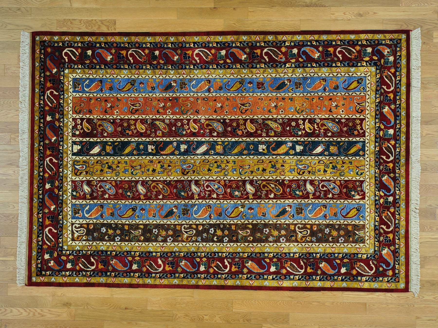 One-of-a-Kind Billingham Kashkuli Shawl Design Hand-Knotted Wool Area Rug