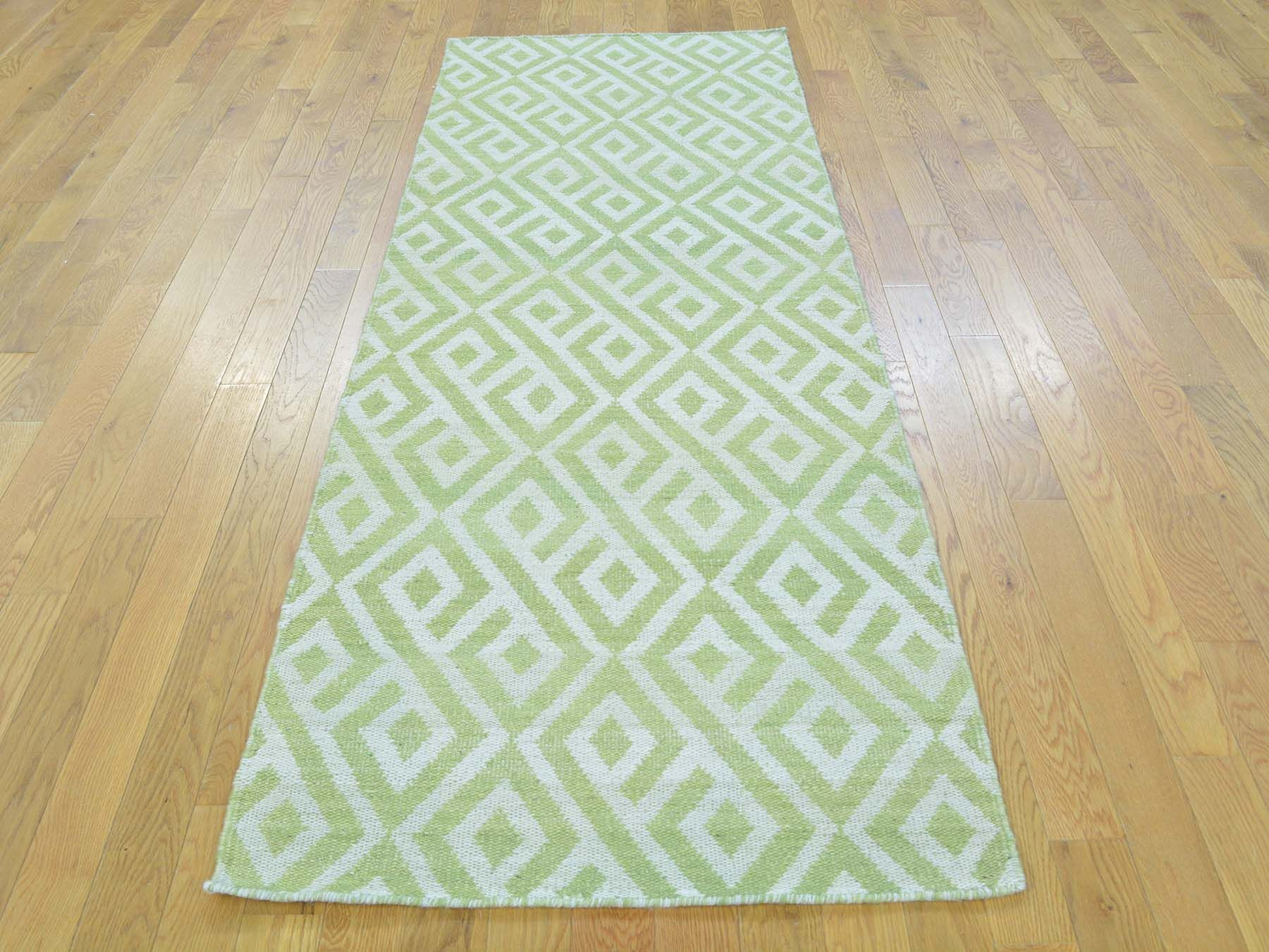 One-of-a-Kind Billips Reversible Killim Handwoven Beige Wool Area Rug