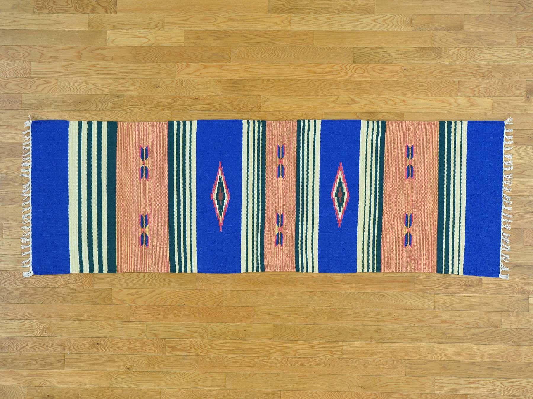 One-of-a-Kind Cirillo Design Reversible Handmade Kilim Wool Area Rug