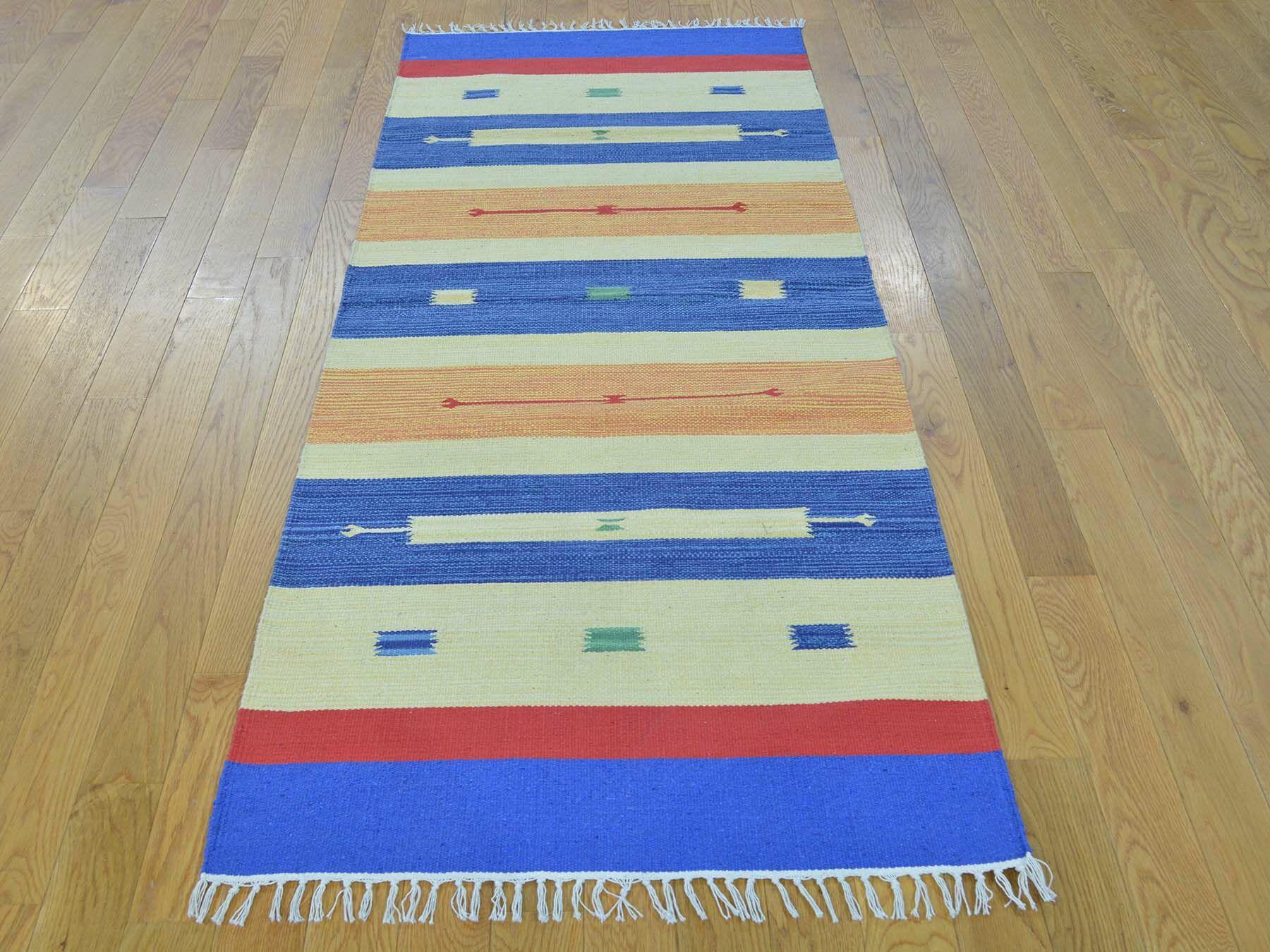One-of-a-Kind Bonniview Design Handmade Kilim Wool Area Rug