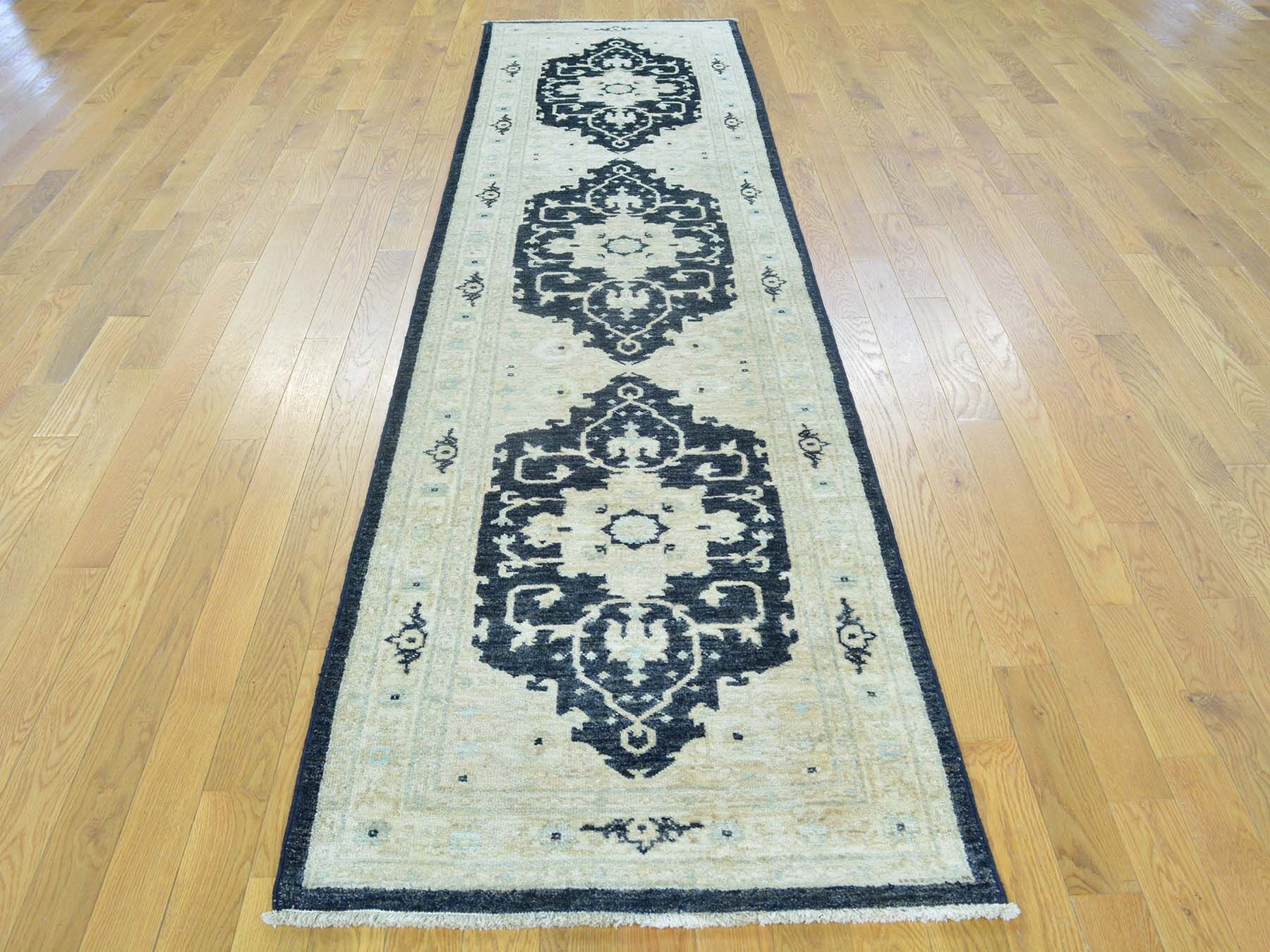 One-of-a-Kind Beare Hand-Knotted Ivory Wool Area Rug