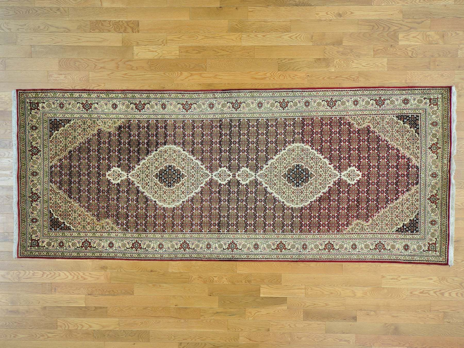 One-of-a-Kind Biloxi Mahi Hand-Knotted Red Wool/Silk Area Rug