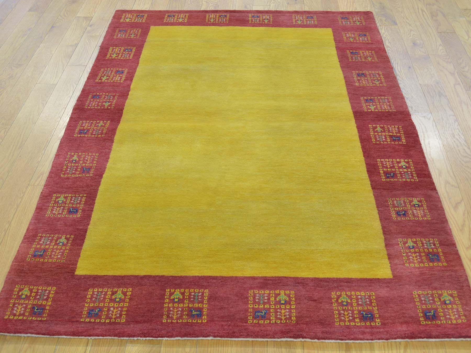 One-of-a-Kind Becker Lori Buft Hand-Knotted Yellow Wool Area Rug