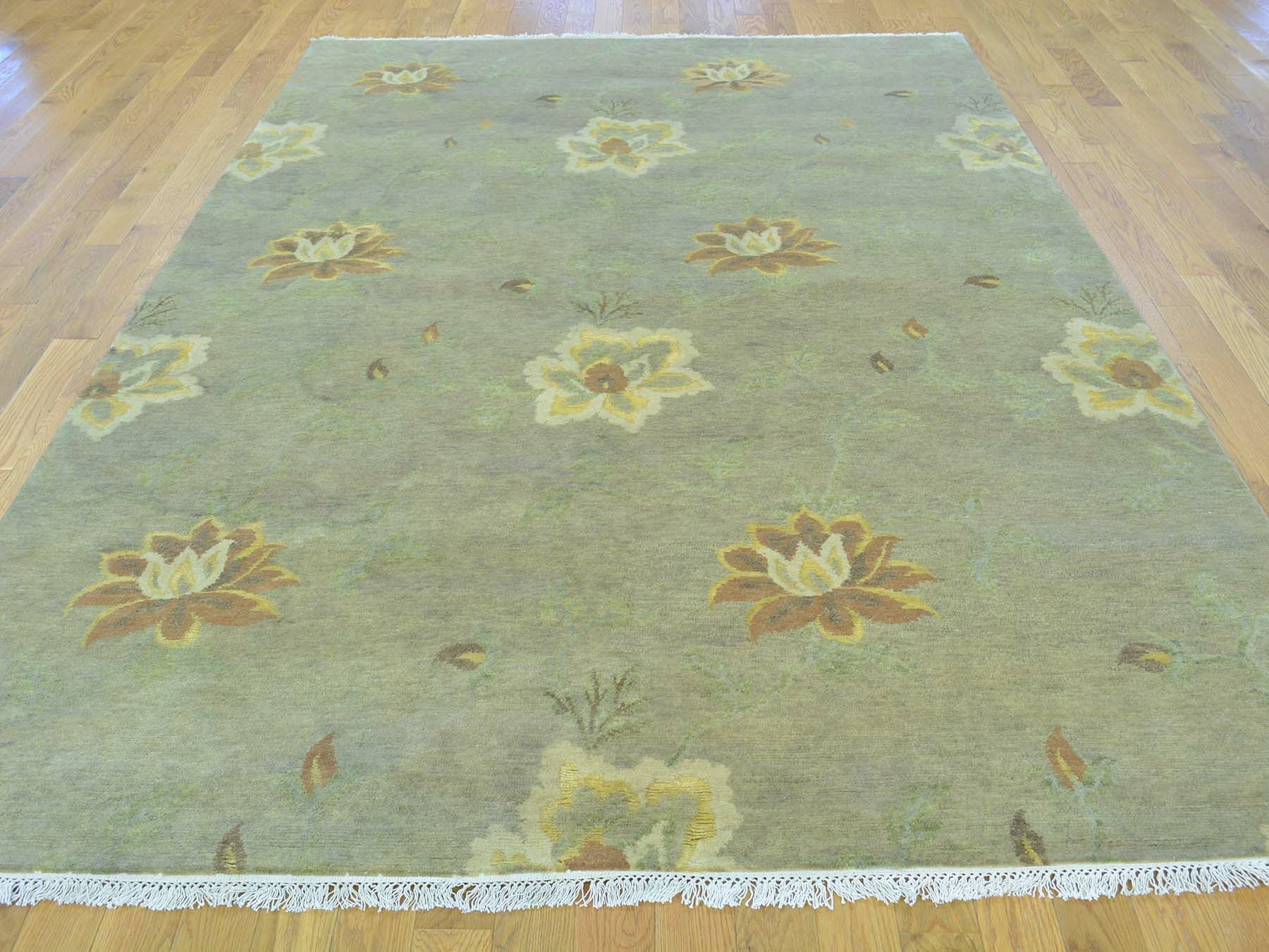 One-of-a-Kind Beverly Hand-Knotted Grey Wool/Silk Area Rug