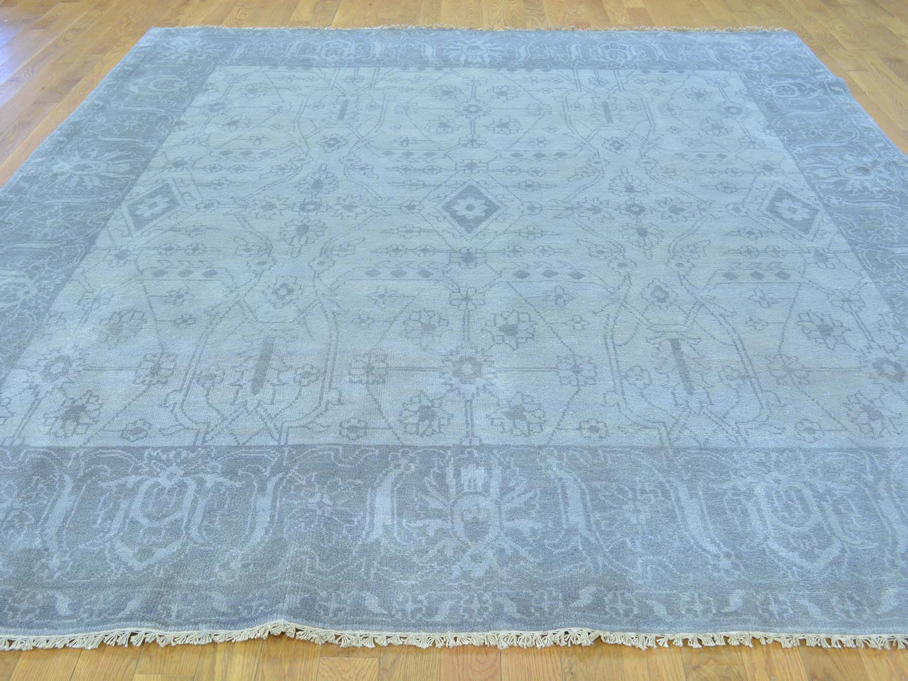 One-of-a-Kind Beare Hand-Knotted Grey Wool Area Rug