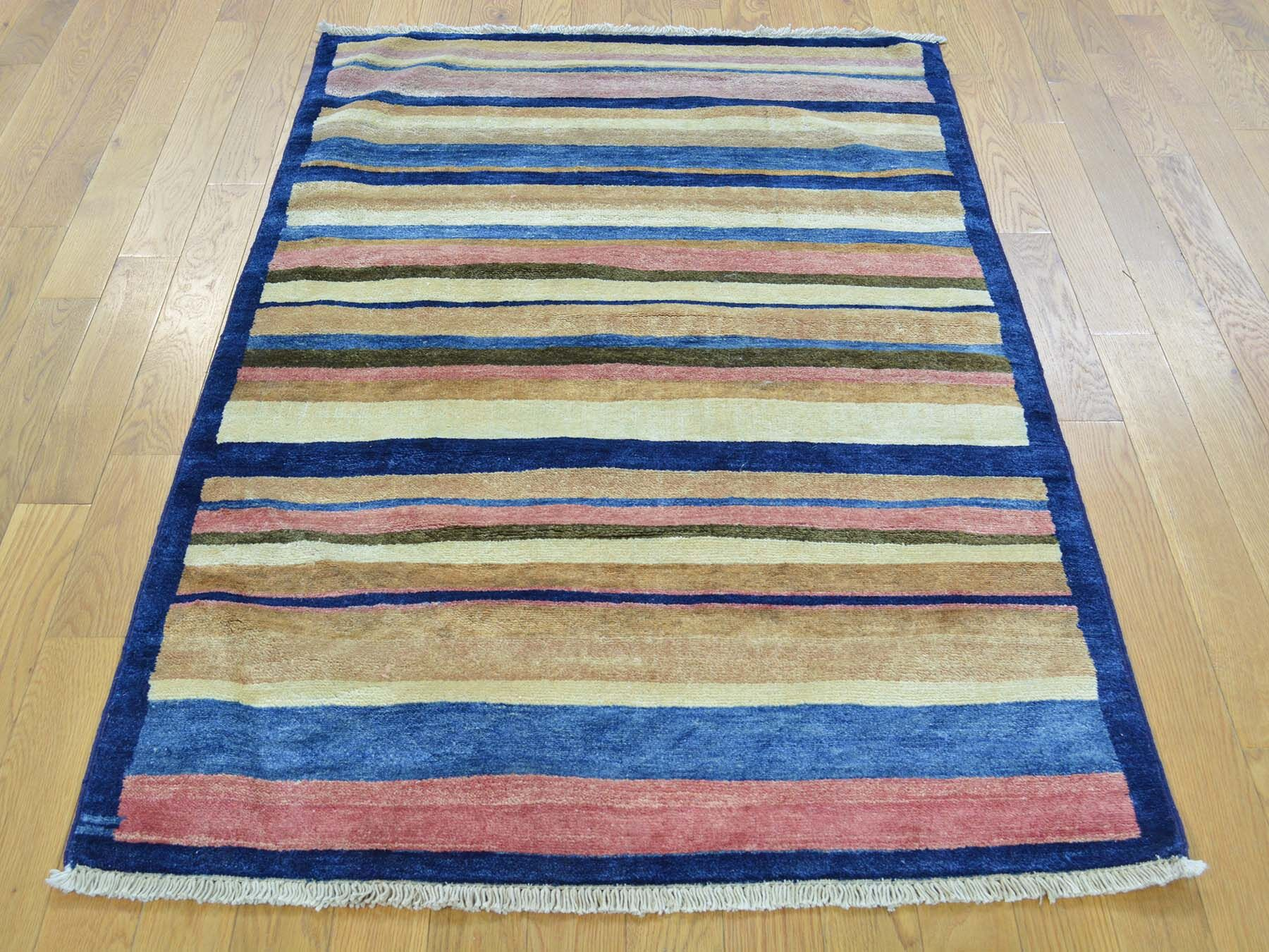 One-of-a-Kind Becker Striped Hand-Knotted Wool Area Rug