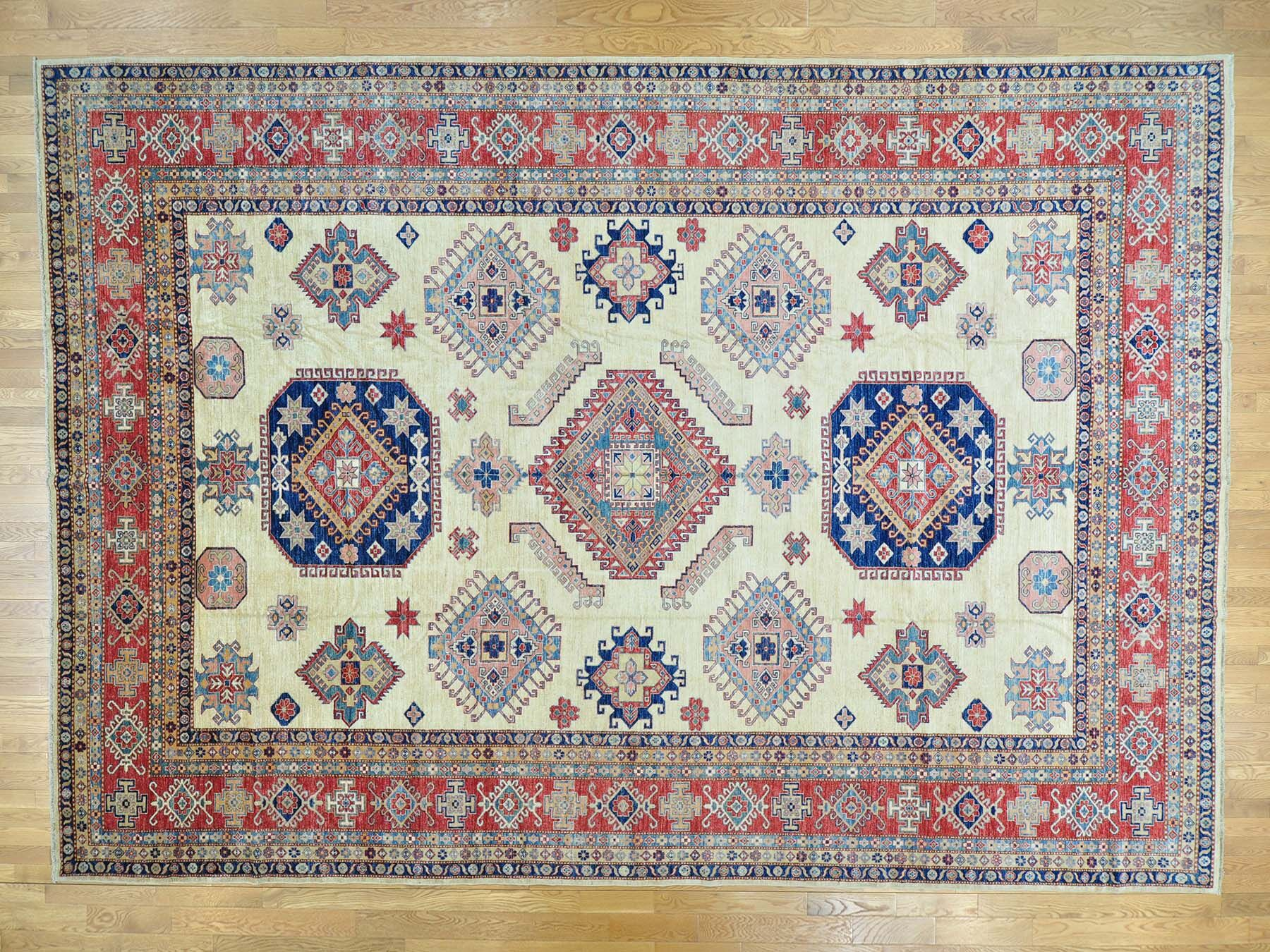 One-of-a-Kind Bechtold Hand-Knotted Ivory Wool Area Rug