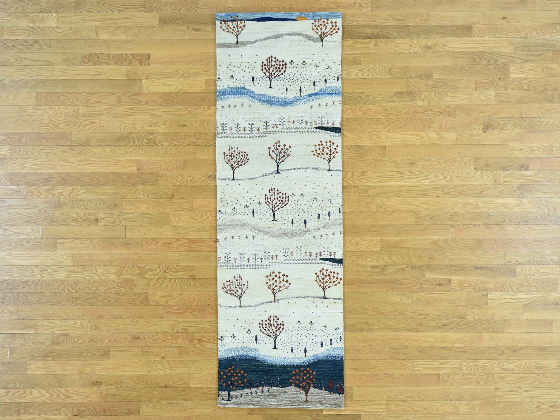 One-of-a-Kind Becker Pictorial Design Hand-Knotted Wool Area Rug