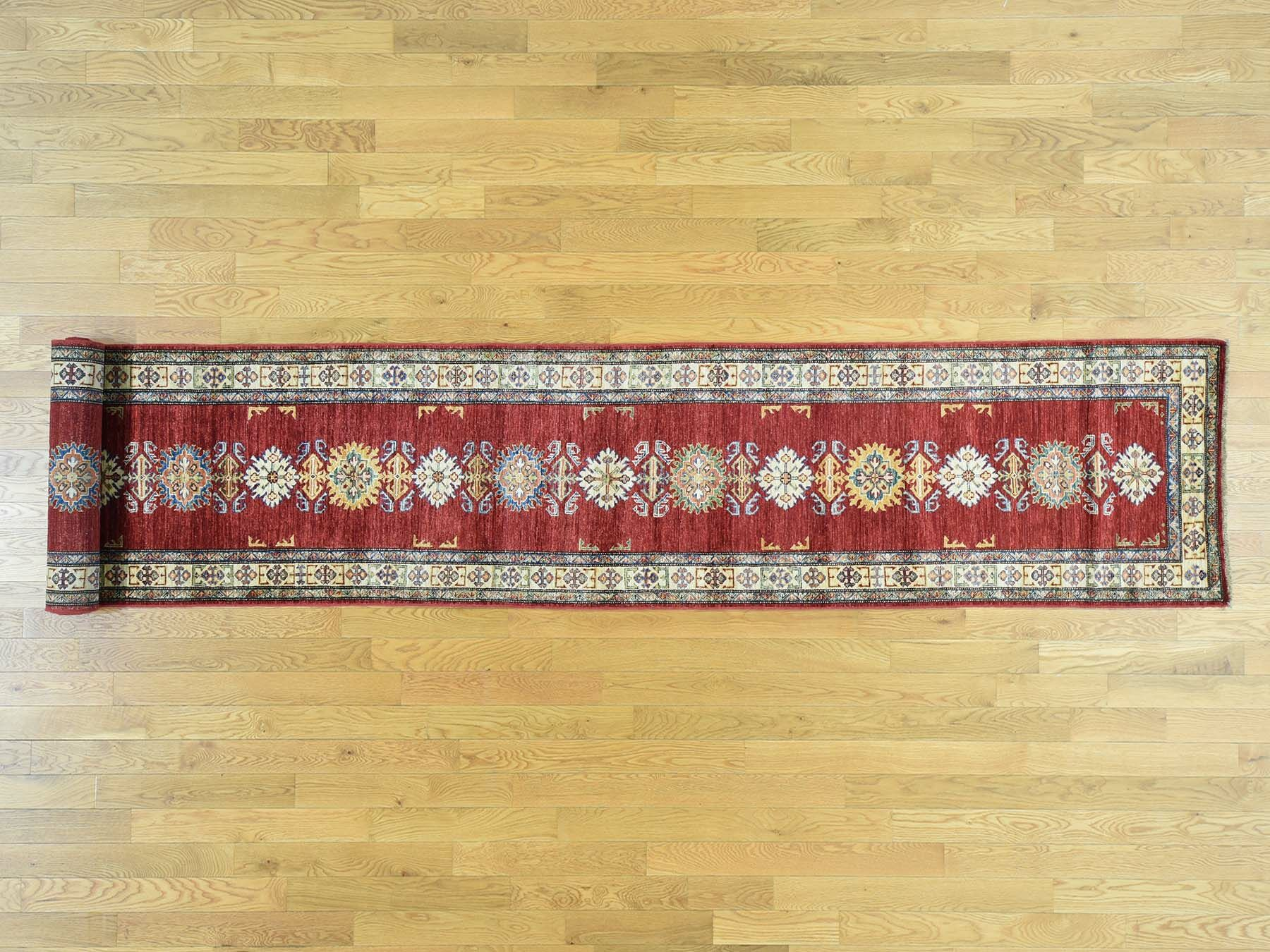 One-of-a-Kind Bechtold Tribal Design Handwoven Red Wool Area Rug