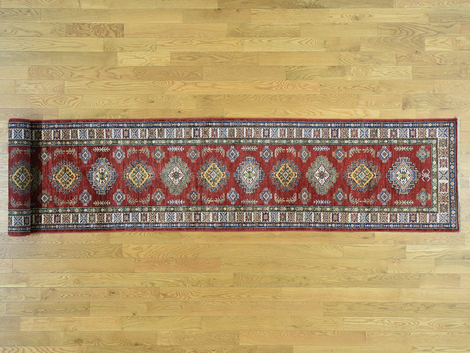 One-of-a-Kind Bechtold Handwoven Red Wool Area Rug