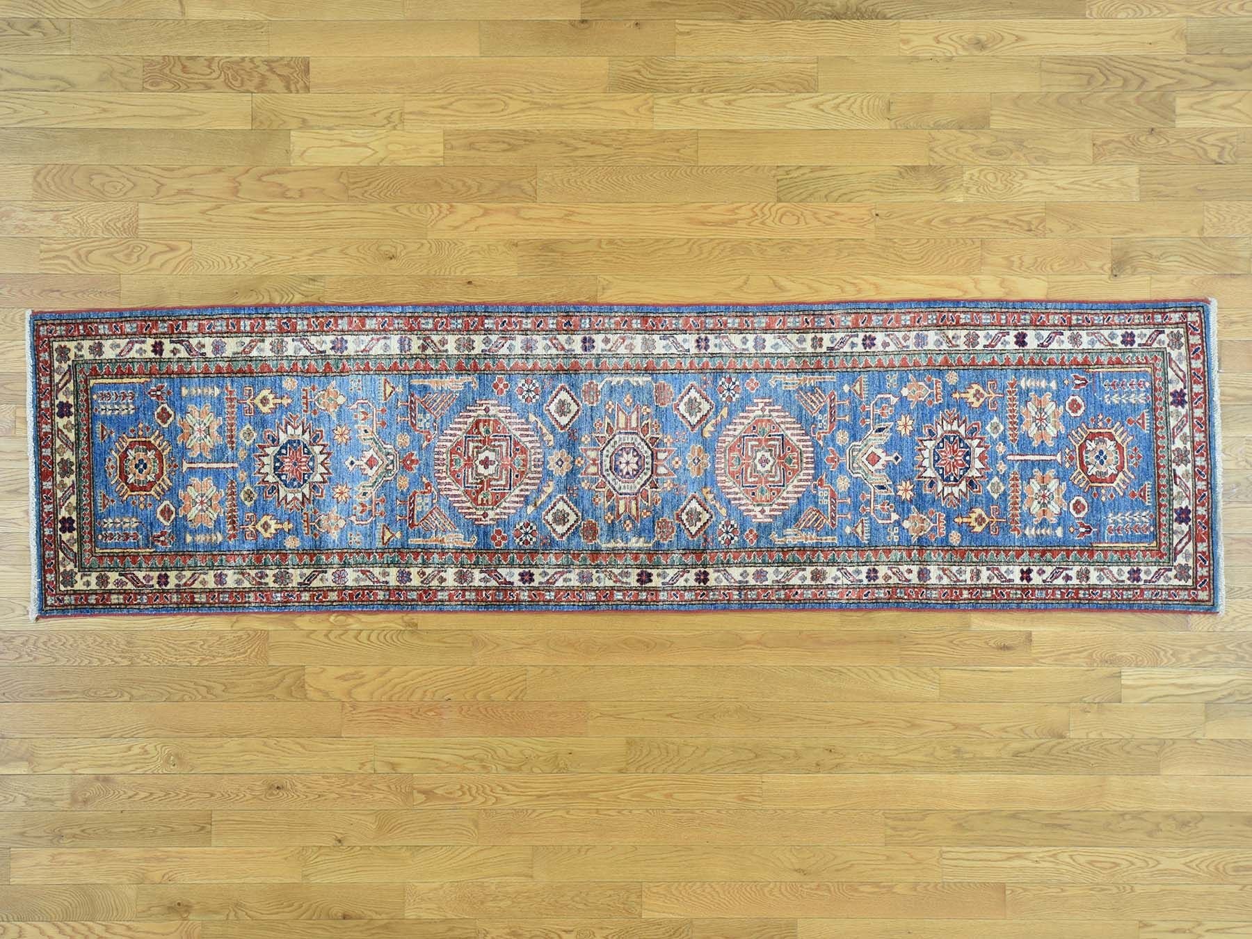 One-of-a-Kind Bechtold Denim Handwoven Blue Wool Area Rug