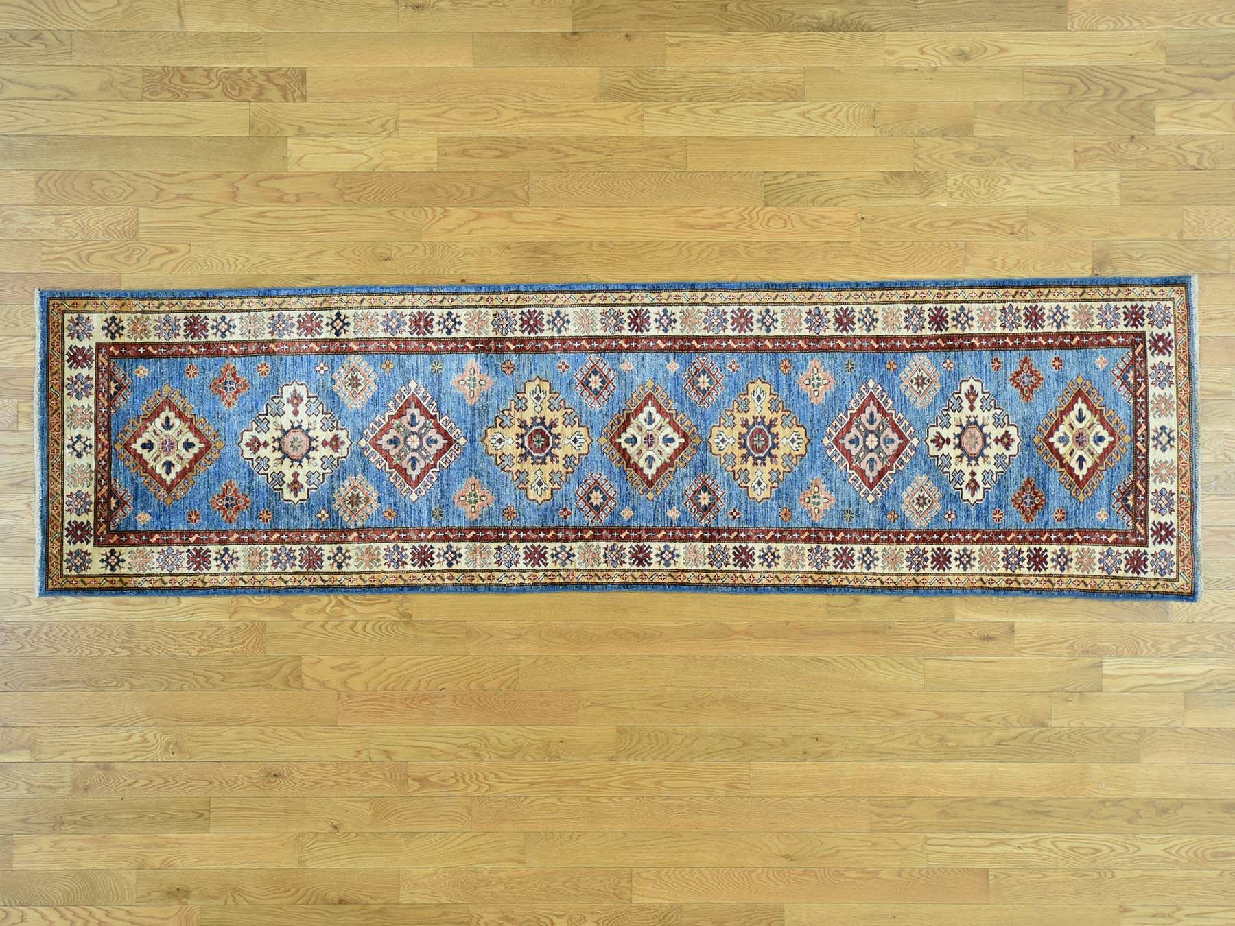 One-of-a-Kind Bechtold Handwoven Blue Wool Area Rug