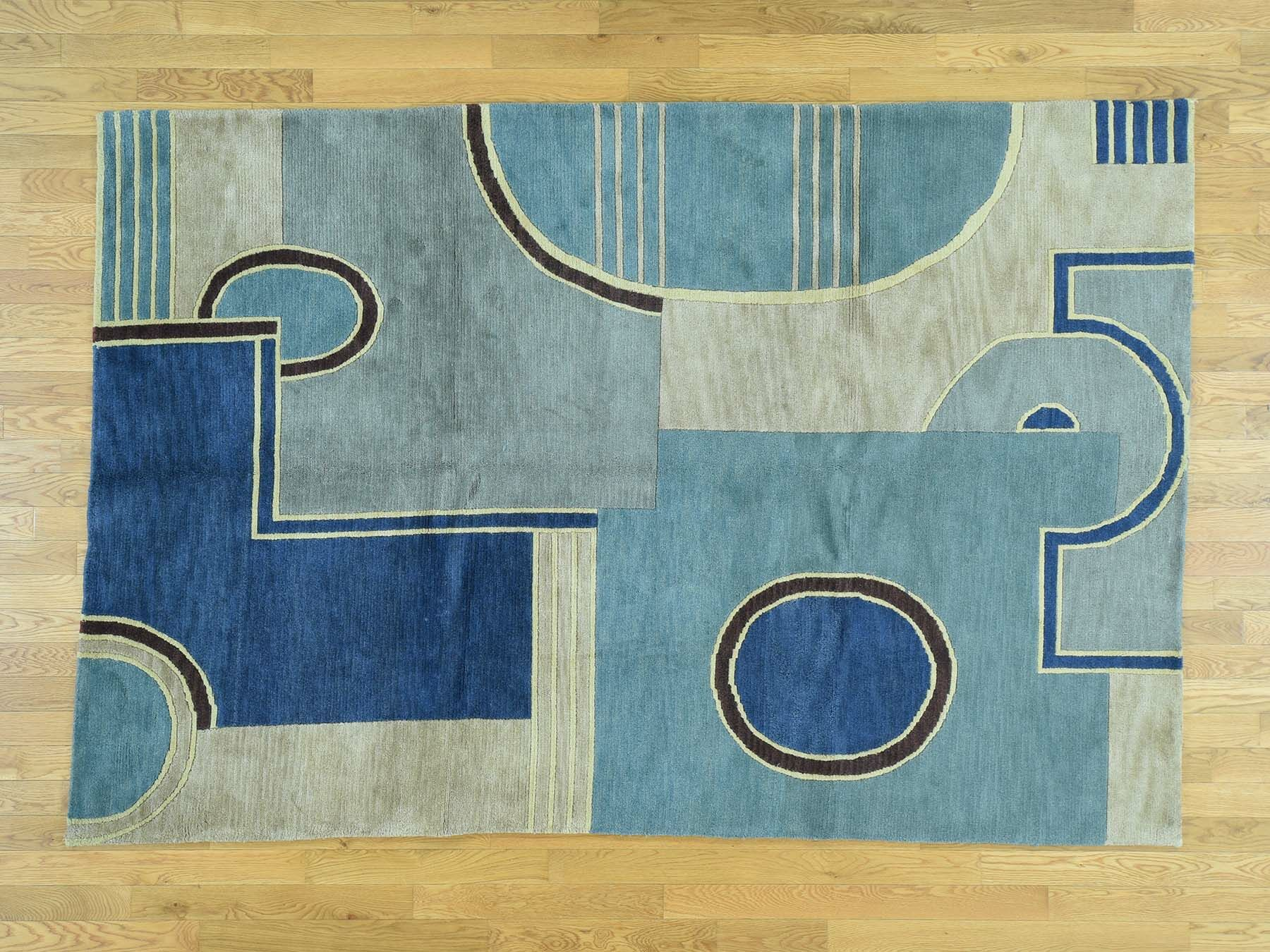 One-of-a-Kind Beverly Abstract Design Handwoven Wool Area Rug