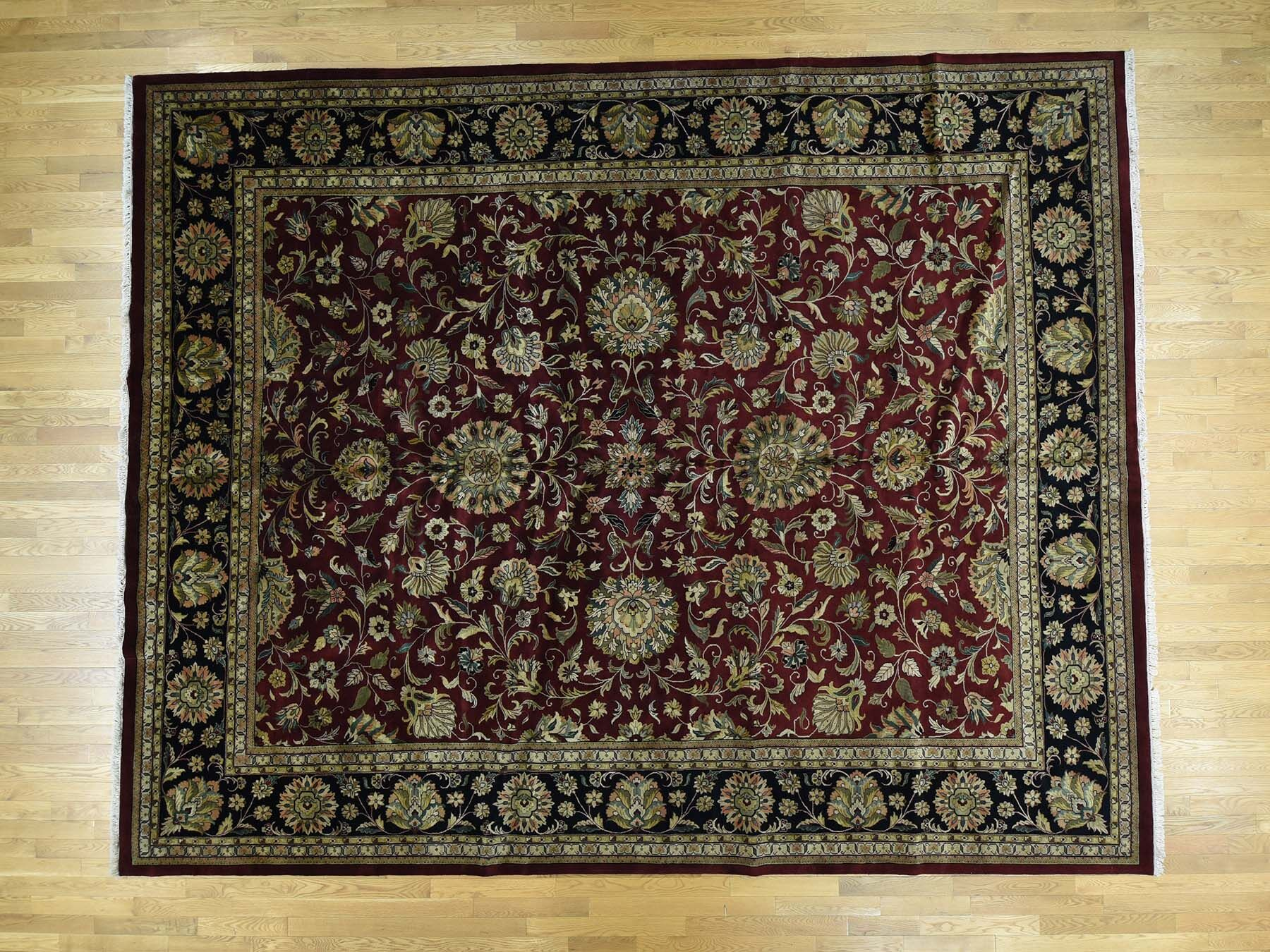 One-of-a-Kind Benally Indo New Zealand Handwoven Red Wool Area Rug