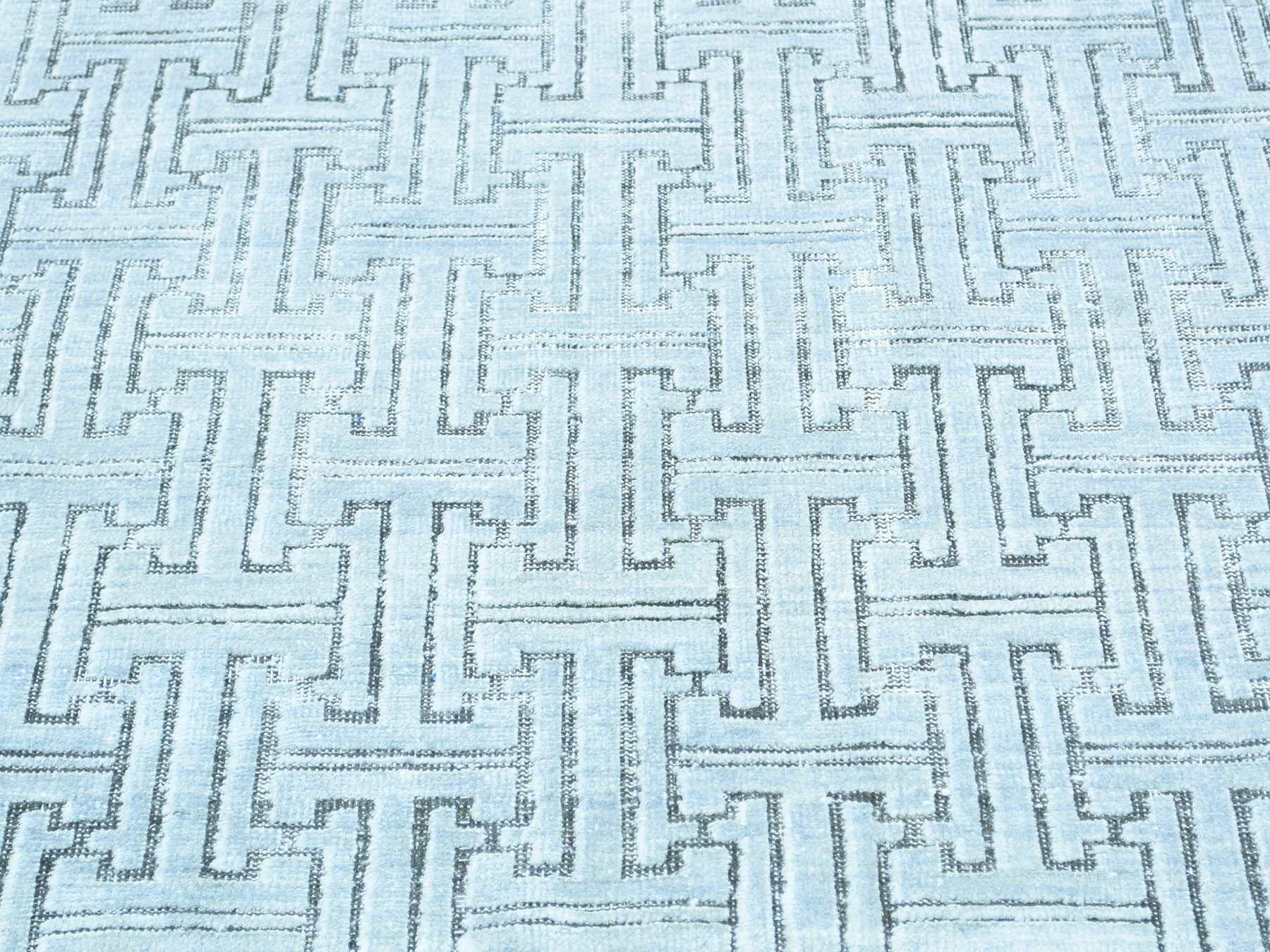 One-of-a-Kind Boerner Geometric Design Handwoven Ivory Wool Area Rug