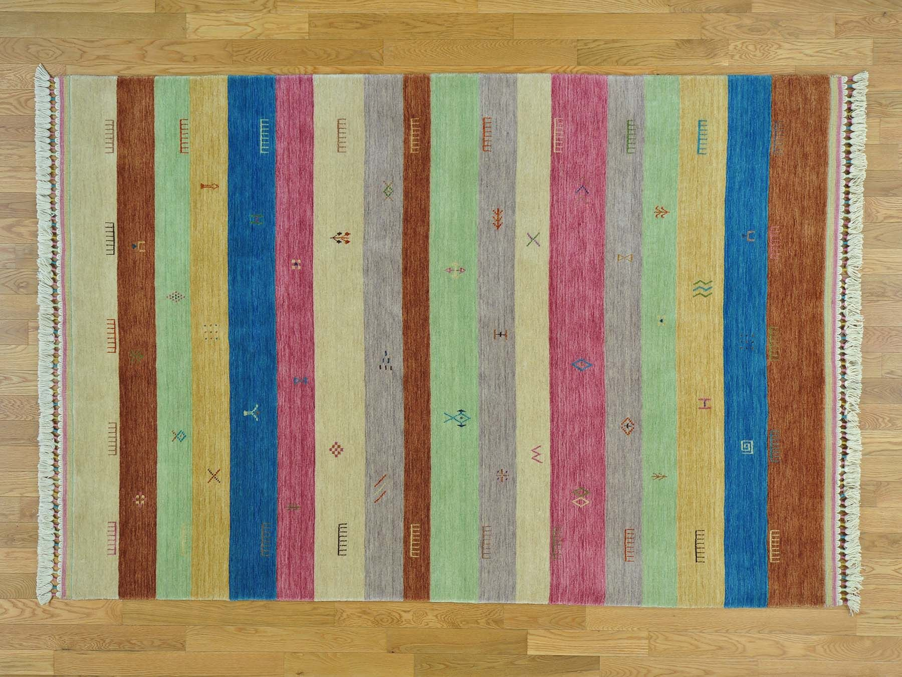 One-of-a-Kind Becker Striped Handwoven Wool Area Rug