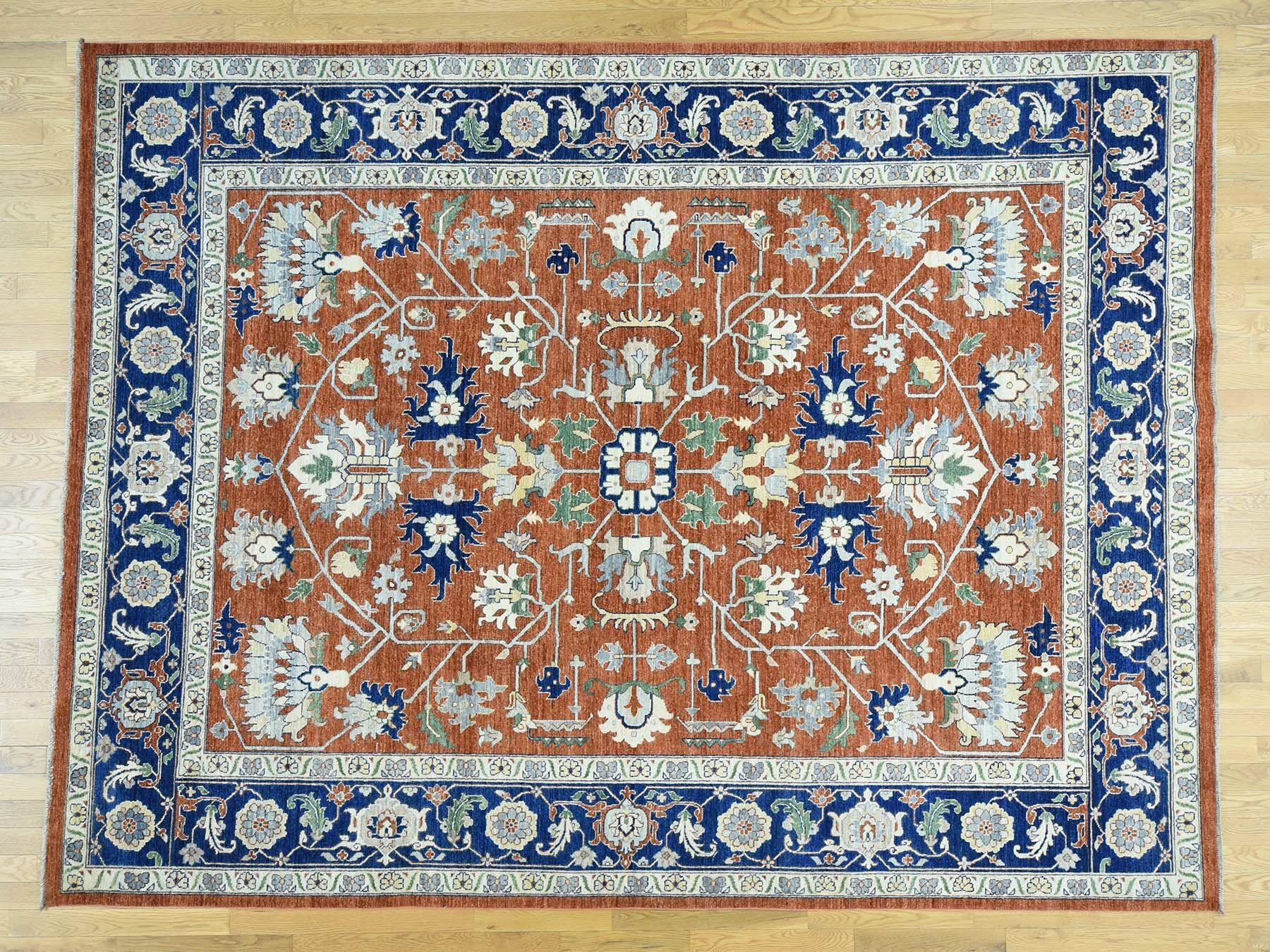 One-of-a-Kind Beare Antiqued Handwoven Wool Area Rug