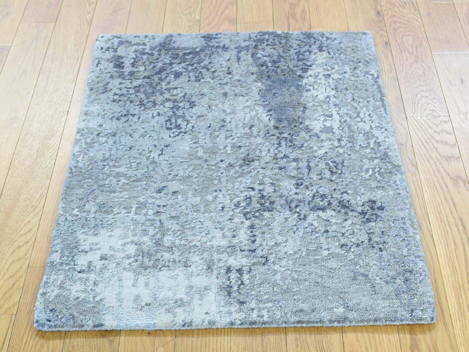 One-of-a-Kind Caywood Abstract Design Handwoven Wool/Silk Area Rug