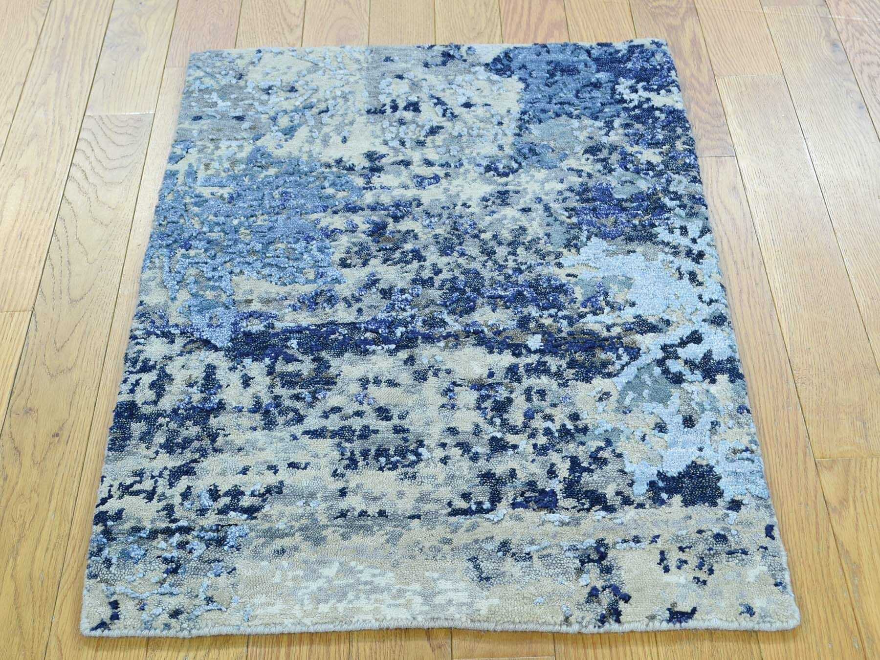 One-of-a-Kind Brimfield Abstract Design Handwoven Wool/Silk Area Rug