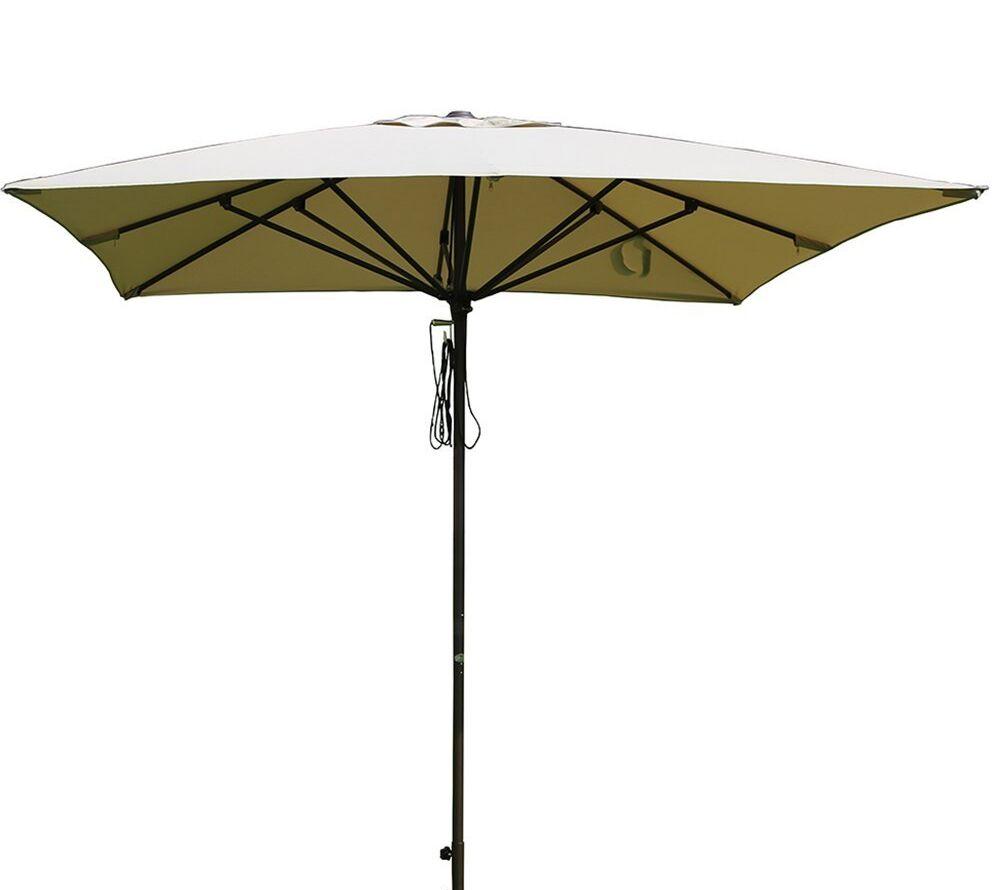 Bronte Patio 8' x 8' Rectangular Market Umbrella Fabric Color: Beige
