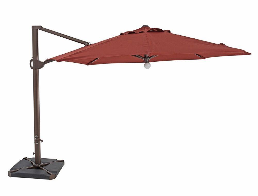 Deacon Patio Offset 11.5' Cantilever Umbrella Fabric Color: Red