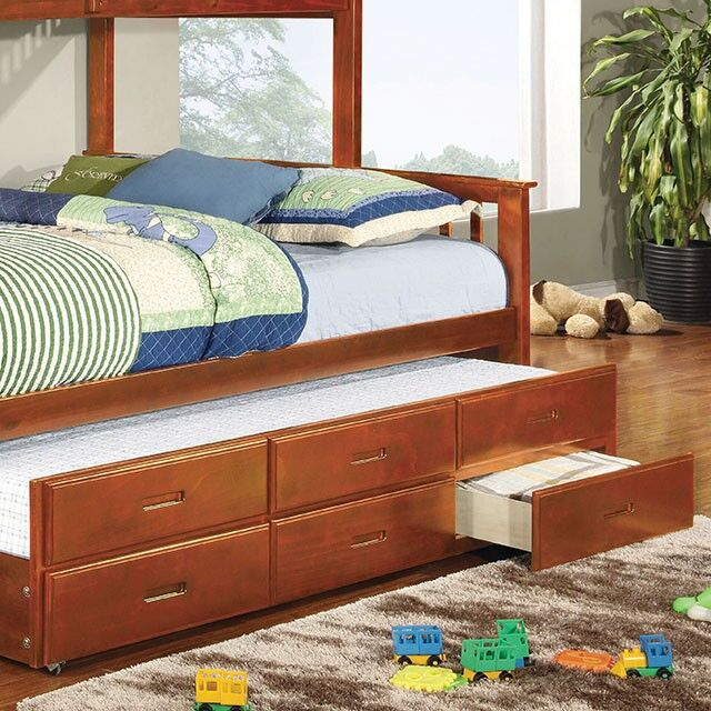 Brutus Twin XL Trundle Underbed Storage Drawer Color: Brown