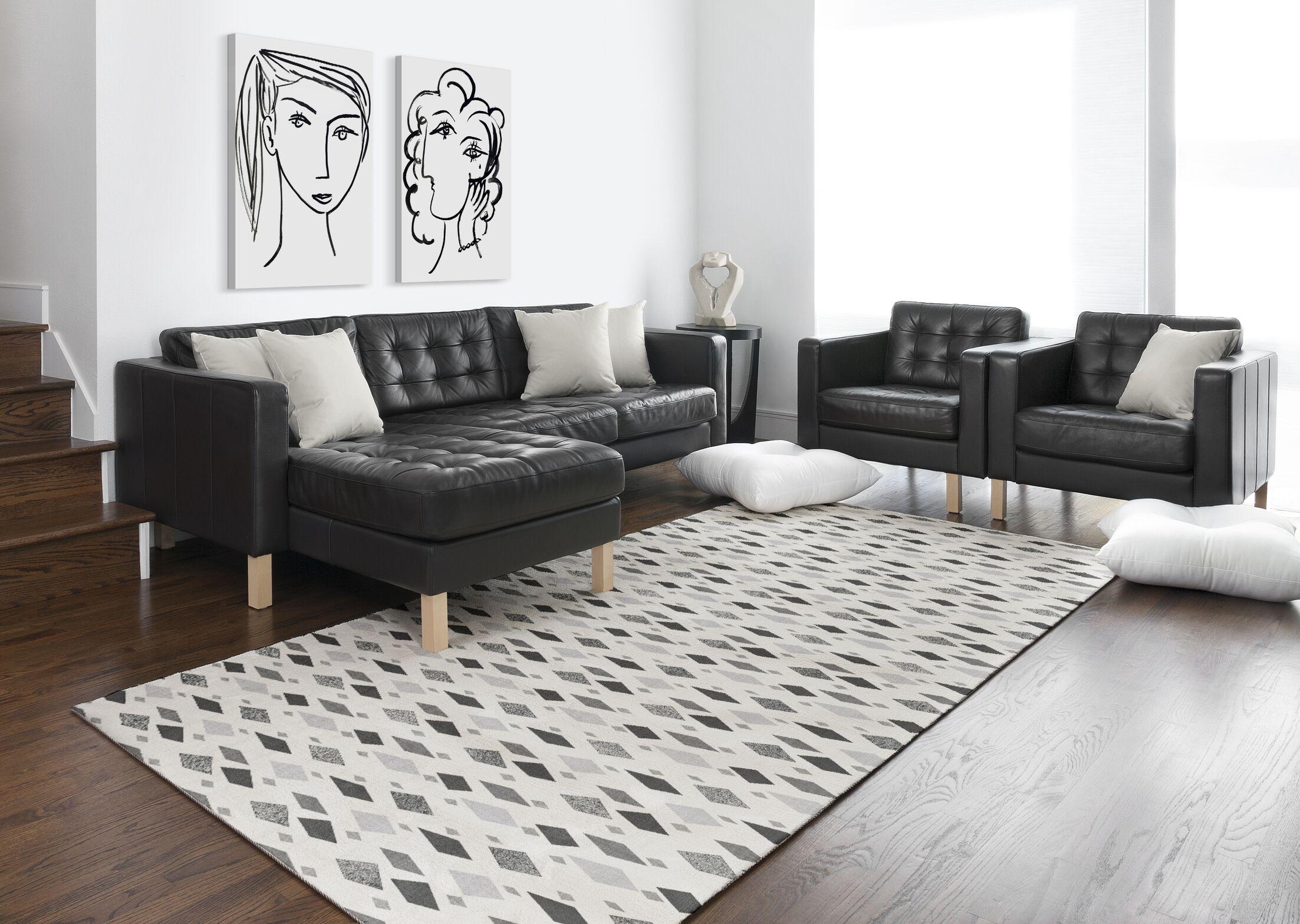 Bouchard Gray Area Rug Rug Size: Rectangle 5' x 7'