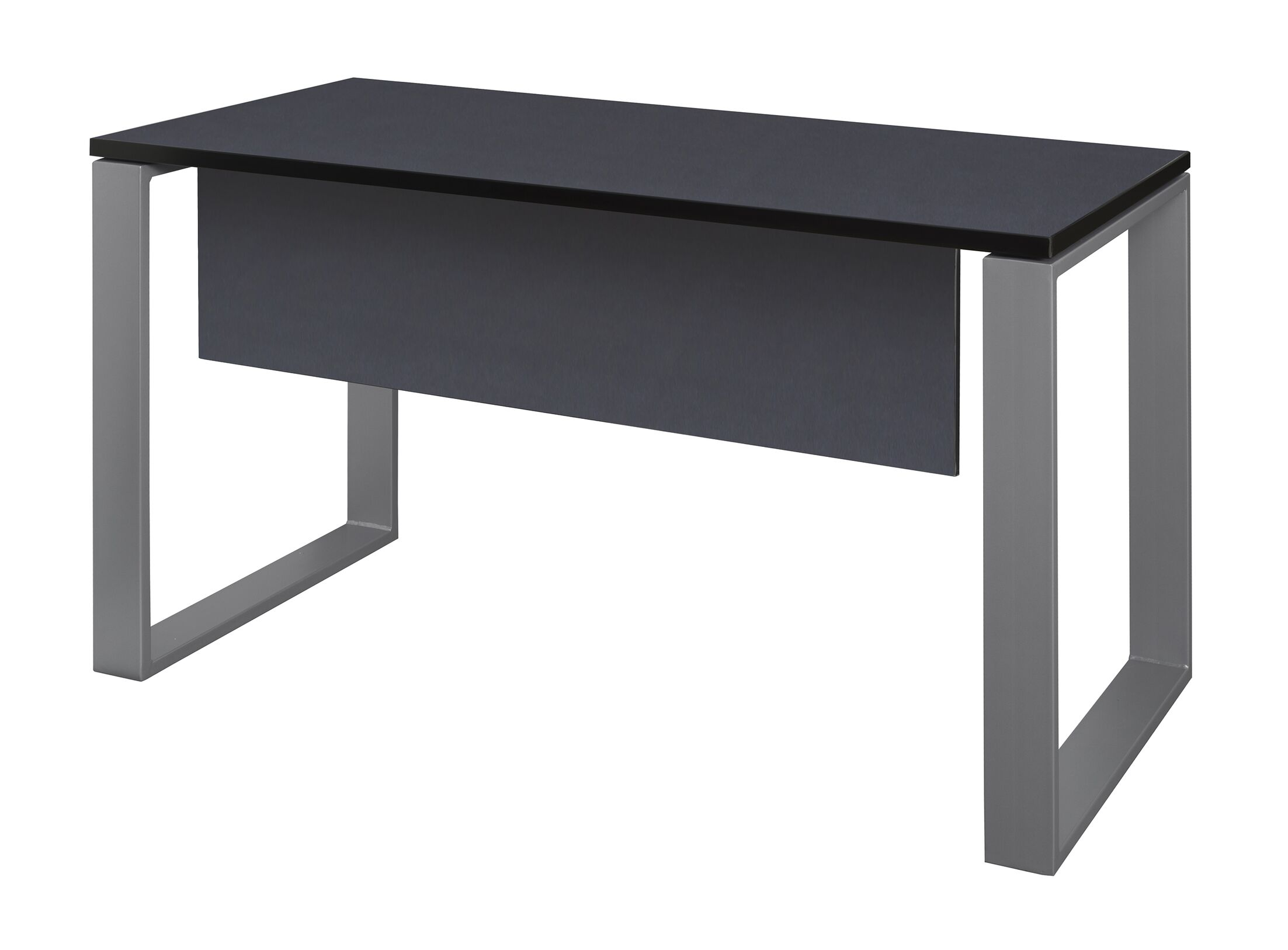 Mireya Training Table with Modesty Panel Base Finish: Gray, Tabletop Finish: Gray, Size: 29