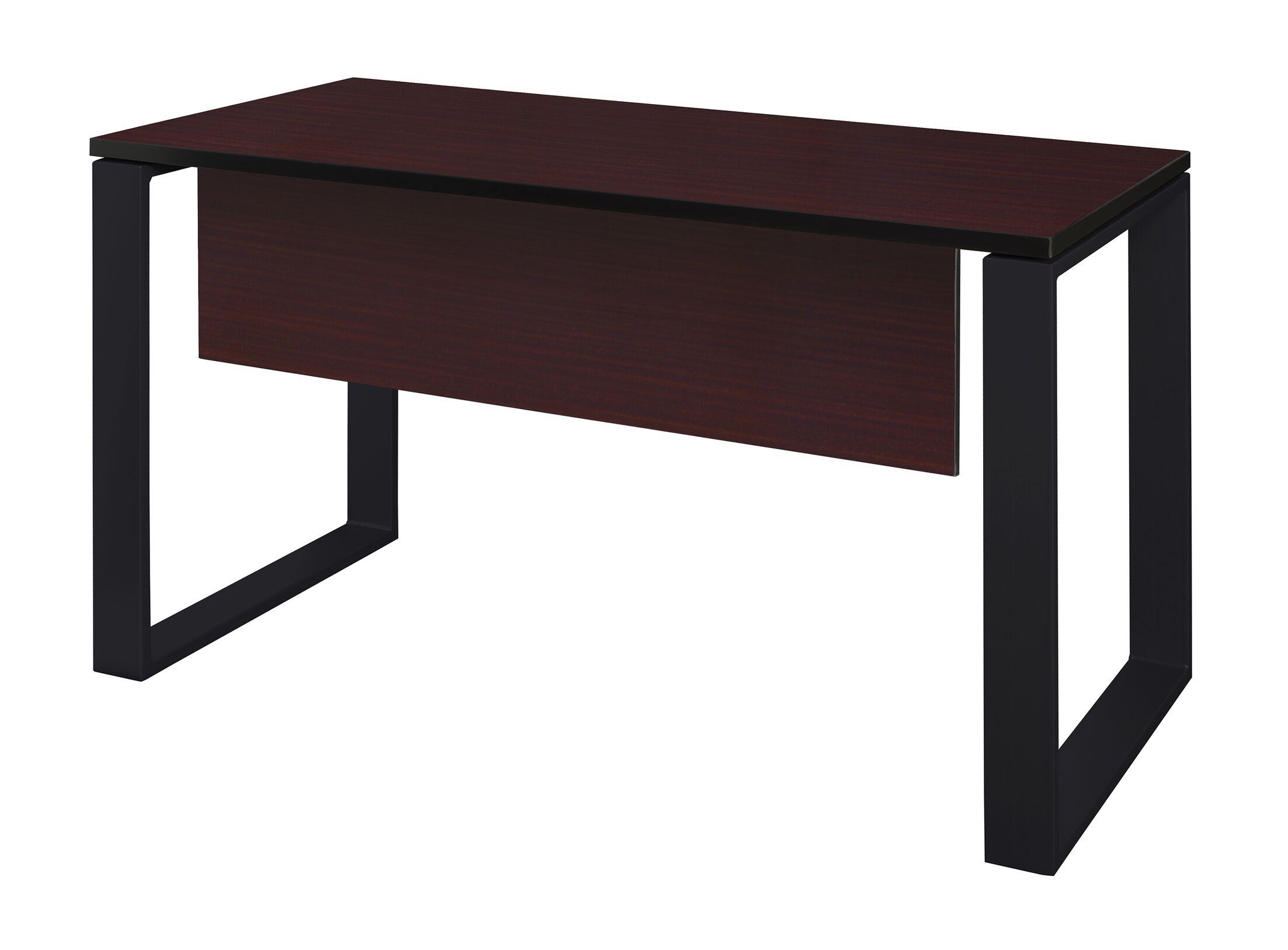 Mireya Training Table with Modesty Panel Base Finish: Black, Tabletop Finish: Mahogany, Size: 29
