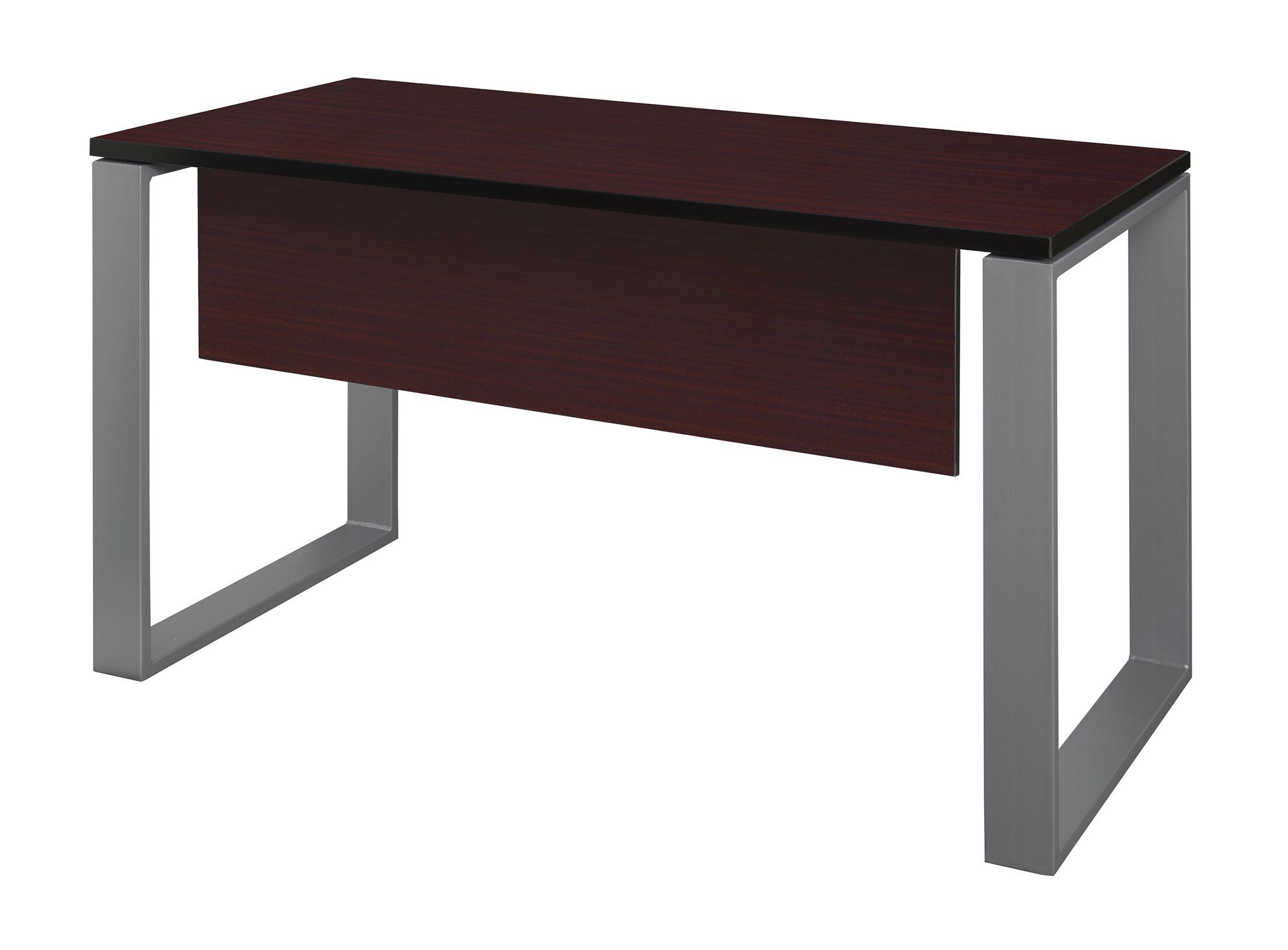 Mireya Training Table with Modesty Panel Base Finish: Gray, Tabletop Finish: Mahogany, Size: 29