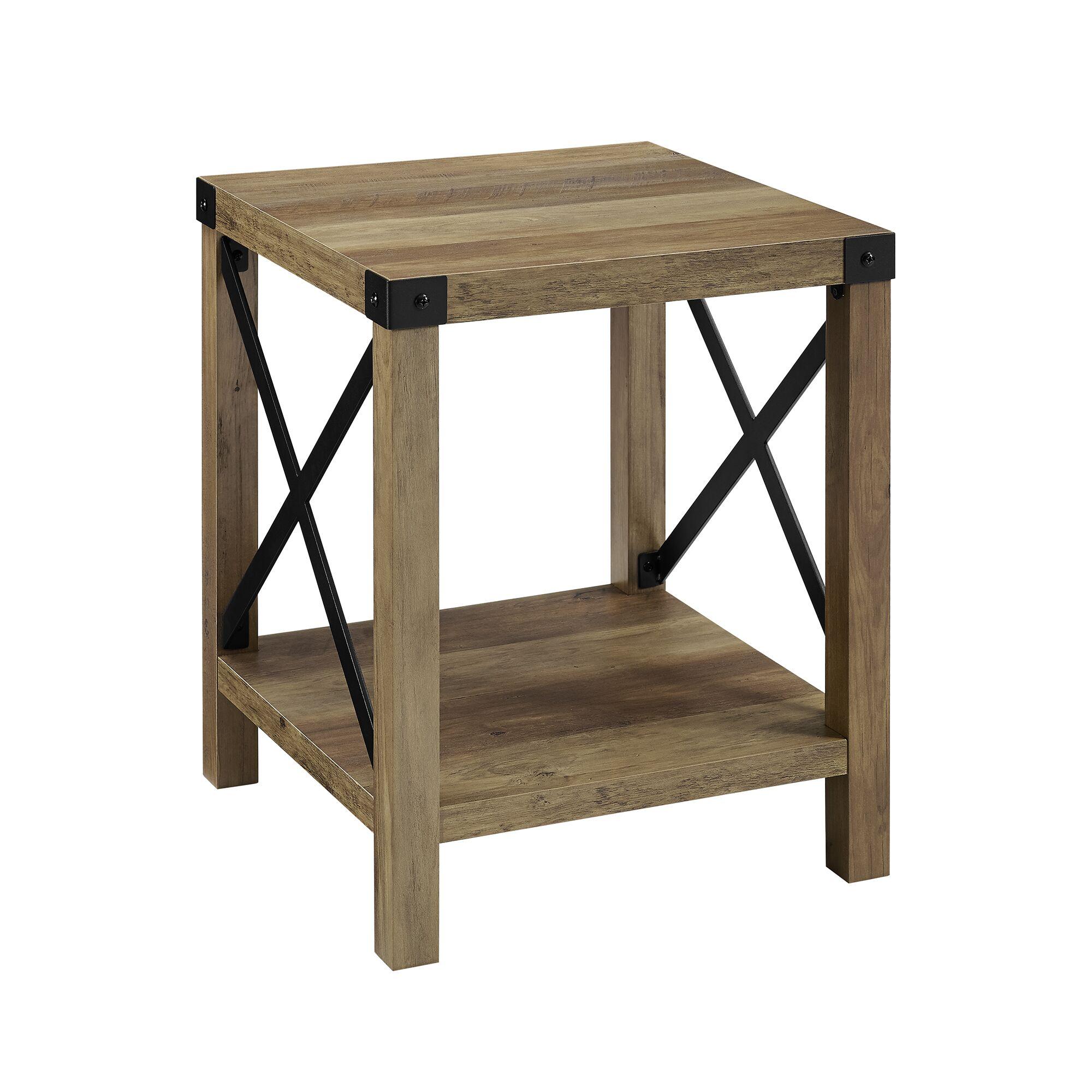 Maja Side Table Color: Rustic Oak