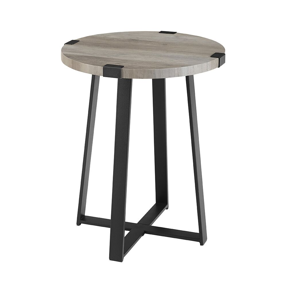 Bowen Side Table Color: Gray Wash