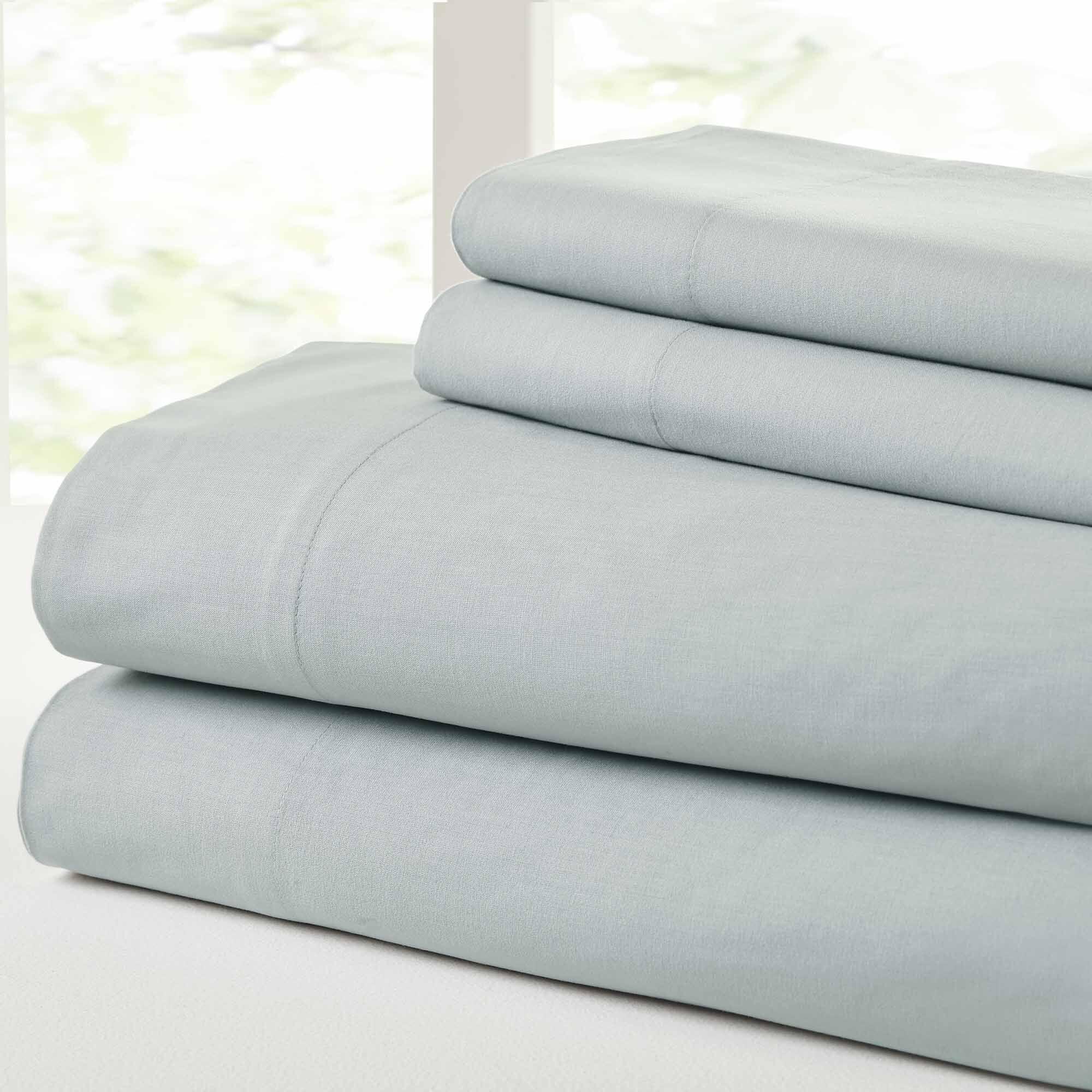 Savion Vintage 100% Cotton Sheet Set Size: California King, Color: Lt. Blue