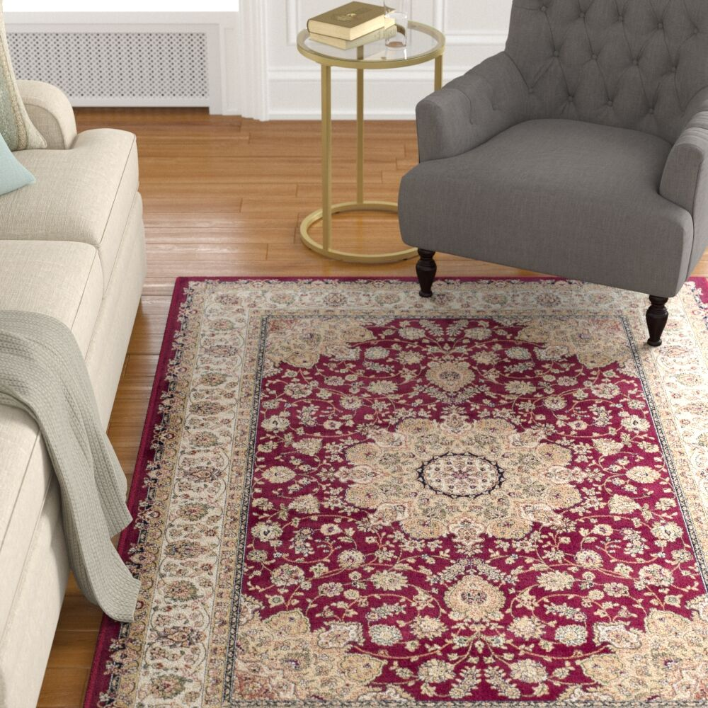 Carolus Red/Beige Area Rug Rug Size: Rectangle 8' x 11'6