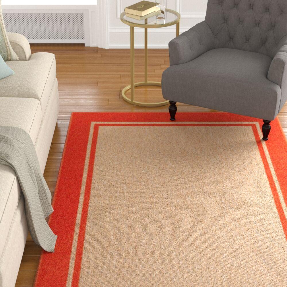 Winchcombe Sand/Orange Outdoor Area Rug Rug Size: Rectangle 3'10