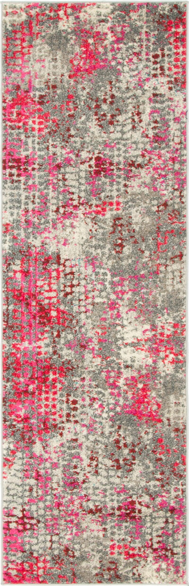 Piotrowski Pink Area Rug Rug Size: Rectangle 2'2