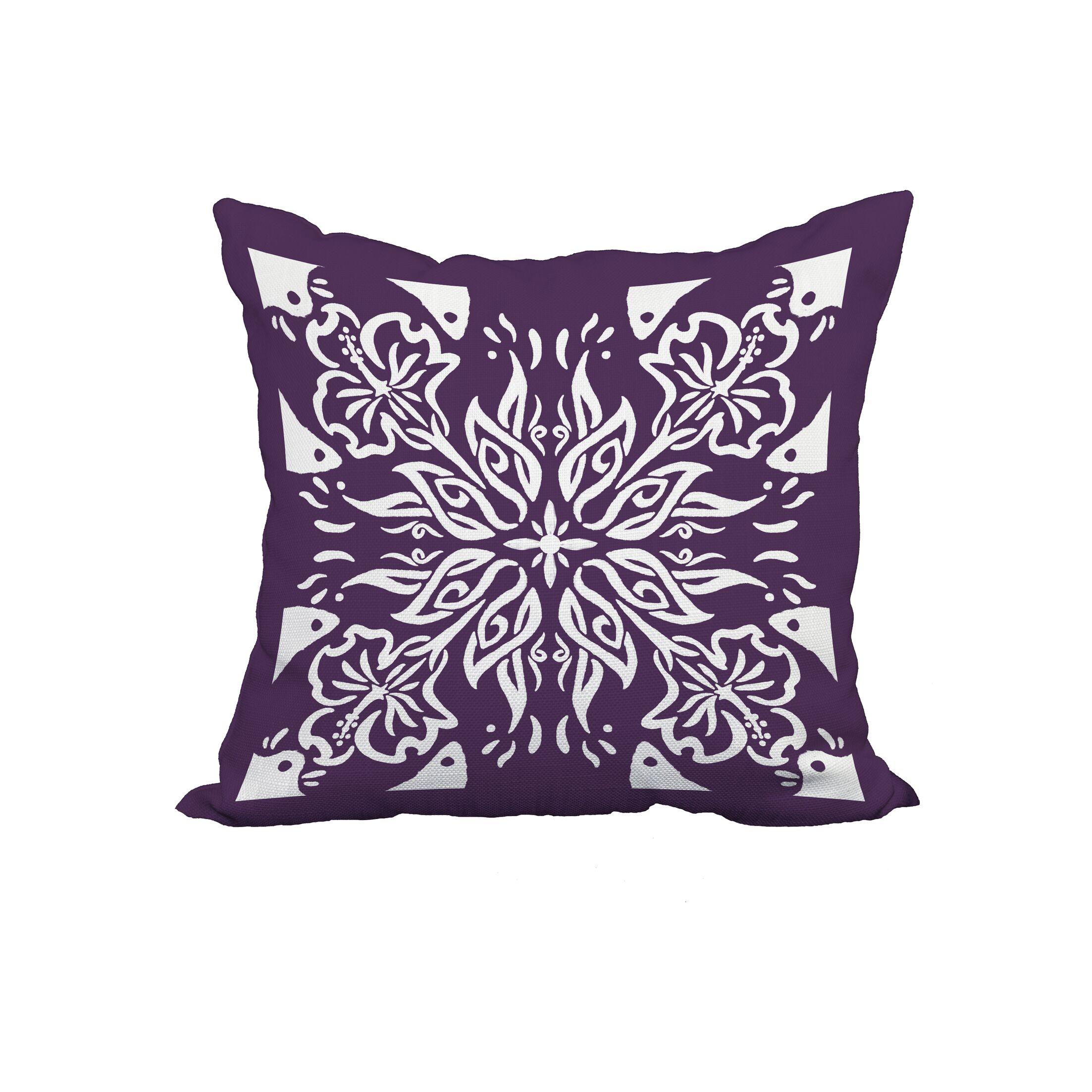 Grattan Tile 3 Print Throw Pillow Size: 22