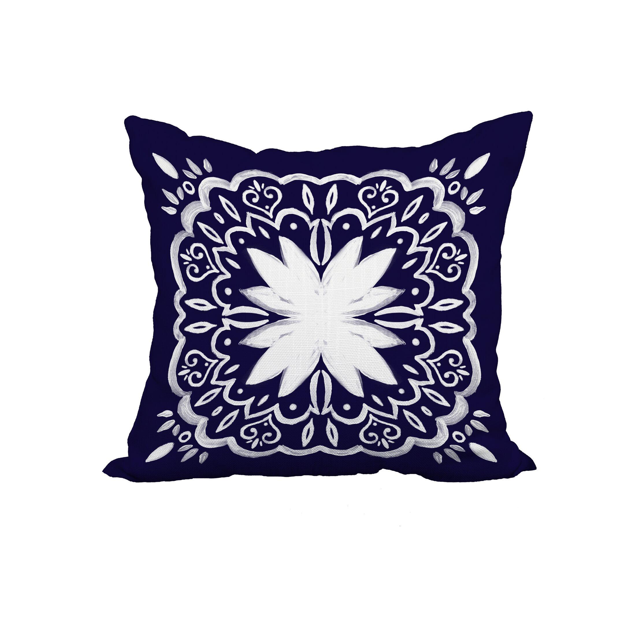 Grattan Tile 1 Print Throw Pillow Size: 20