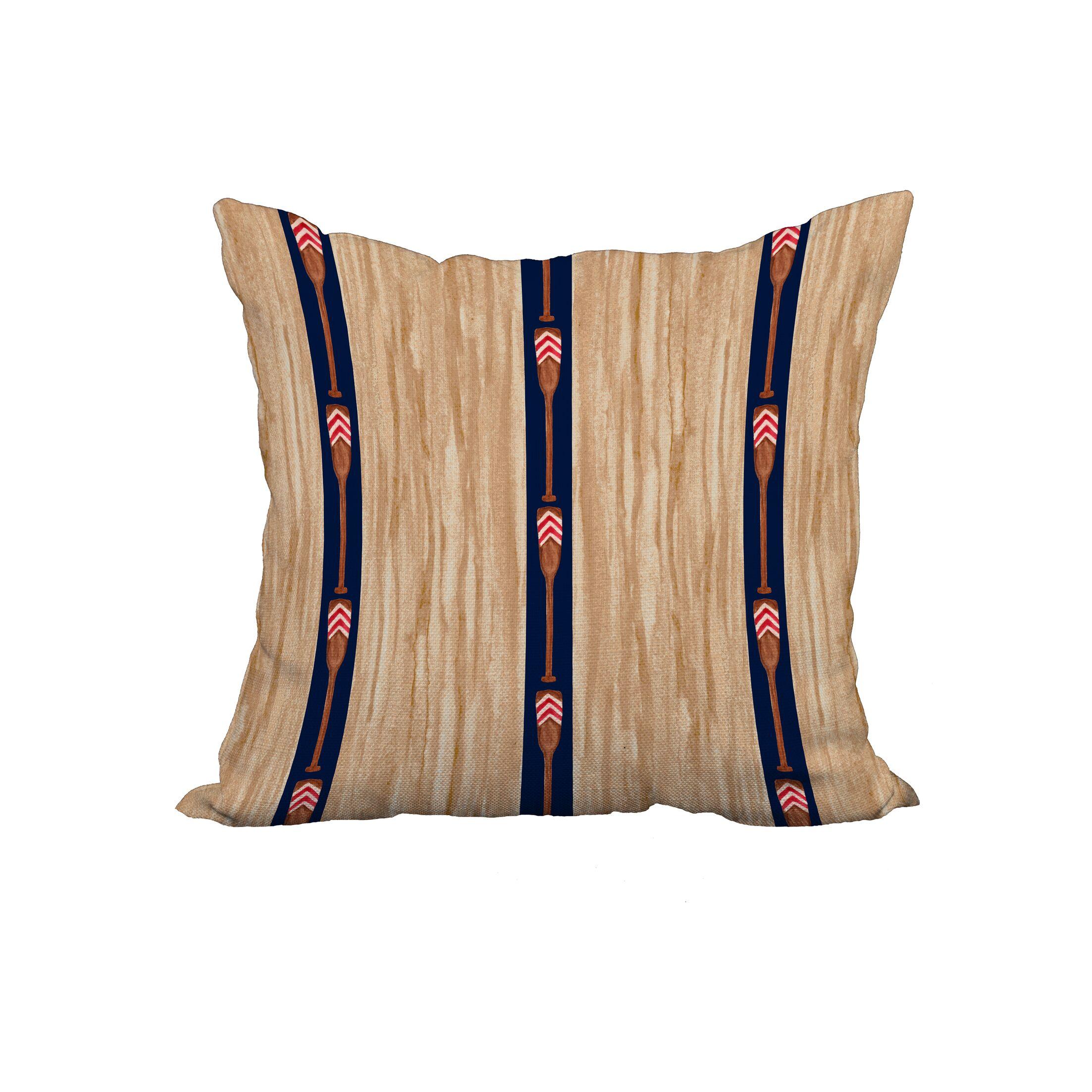 Melinda Trio Stripe Print Throw Pillow Size: 18