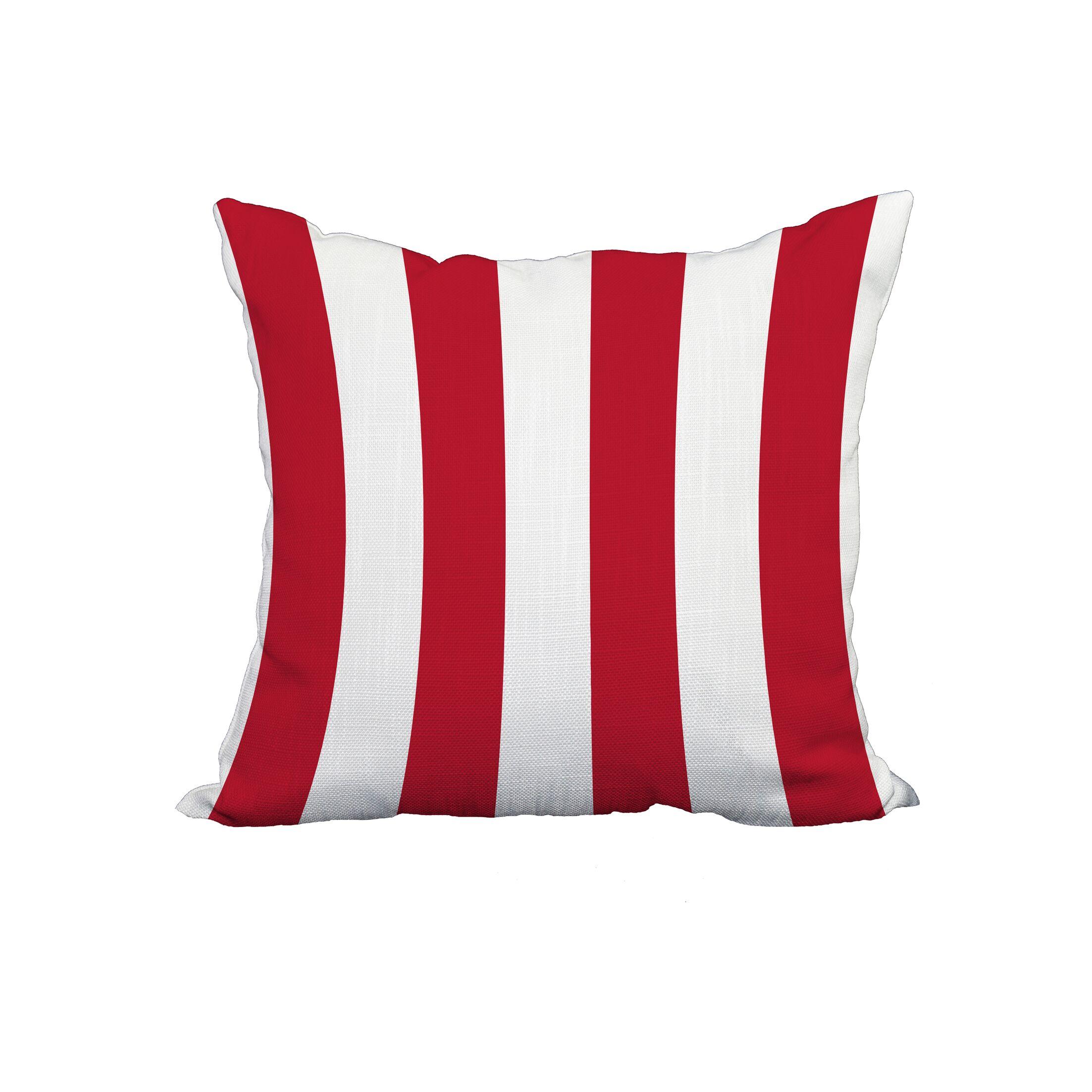 Odysseus Stripe Print Throw Pillow Size: 22