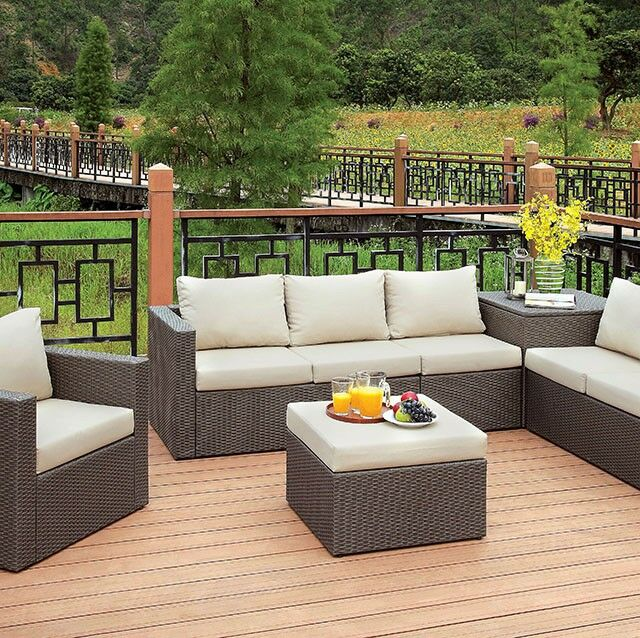Mckee�5 Piece Rattan Sofa Seating Group with Cushions