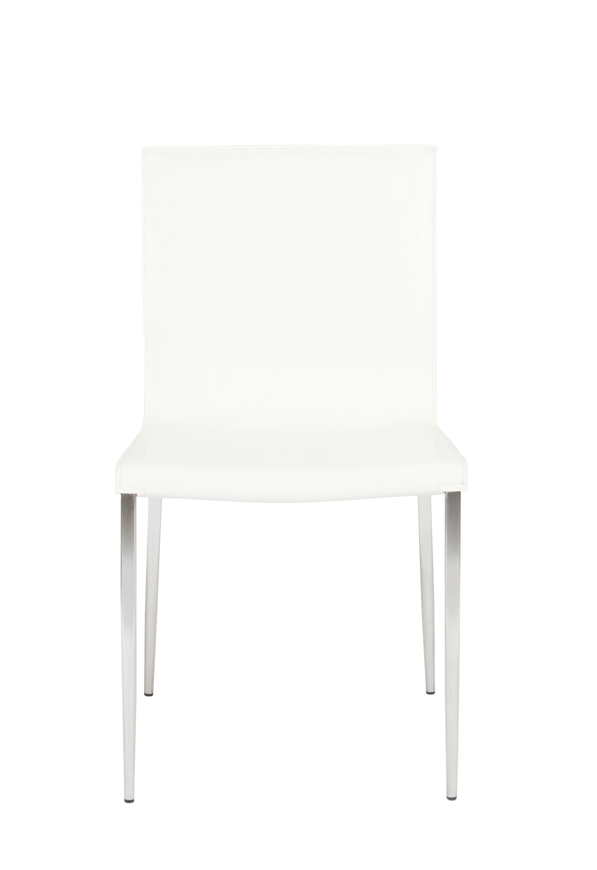 Valeria Upholstered Dining Chair (Set of 2) Upholstery Color: White