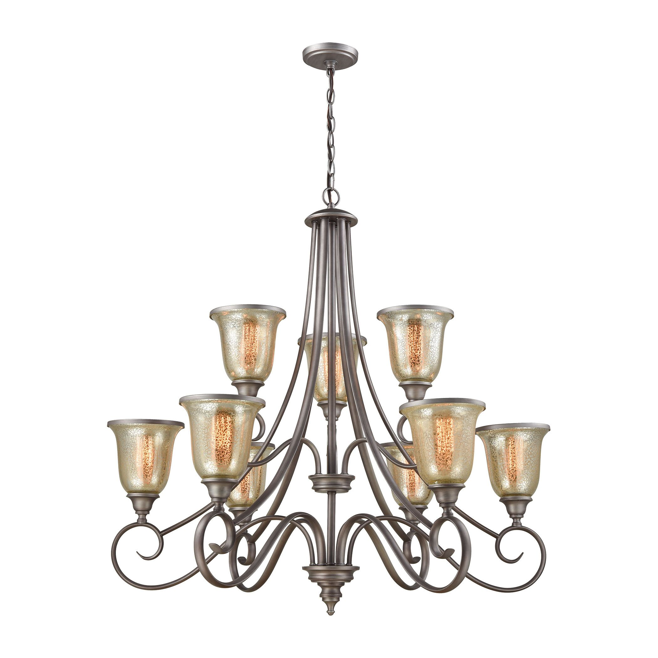 Waller 9-Light Shaded Chandelier